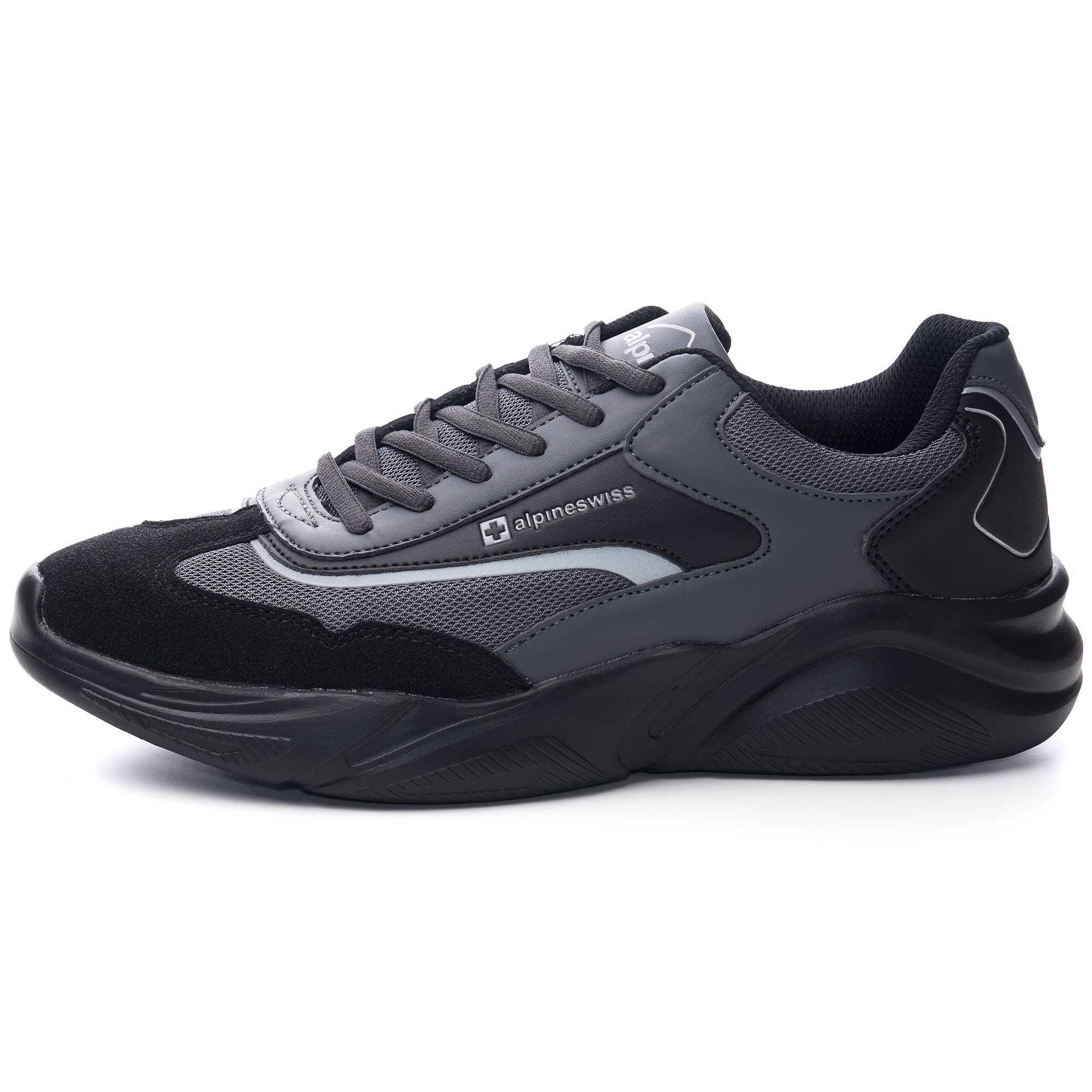 Alpine-Swiss-Stuart-Mens-Chunky-Sneakers-Retro-Platform-Dad-Tennis-Shoes thumbnail 14