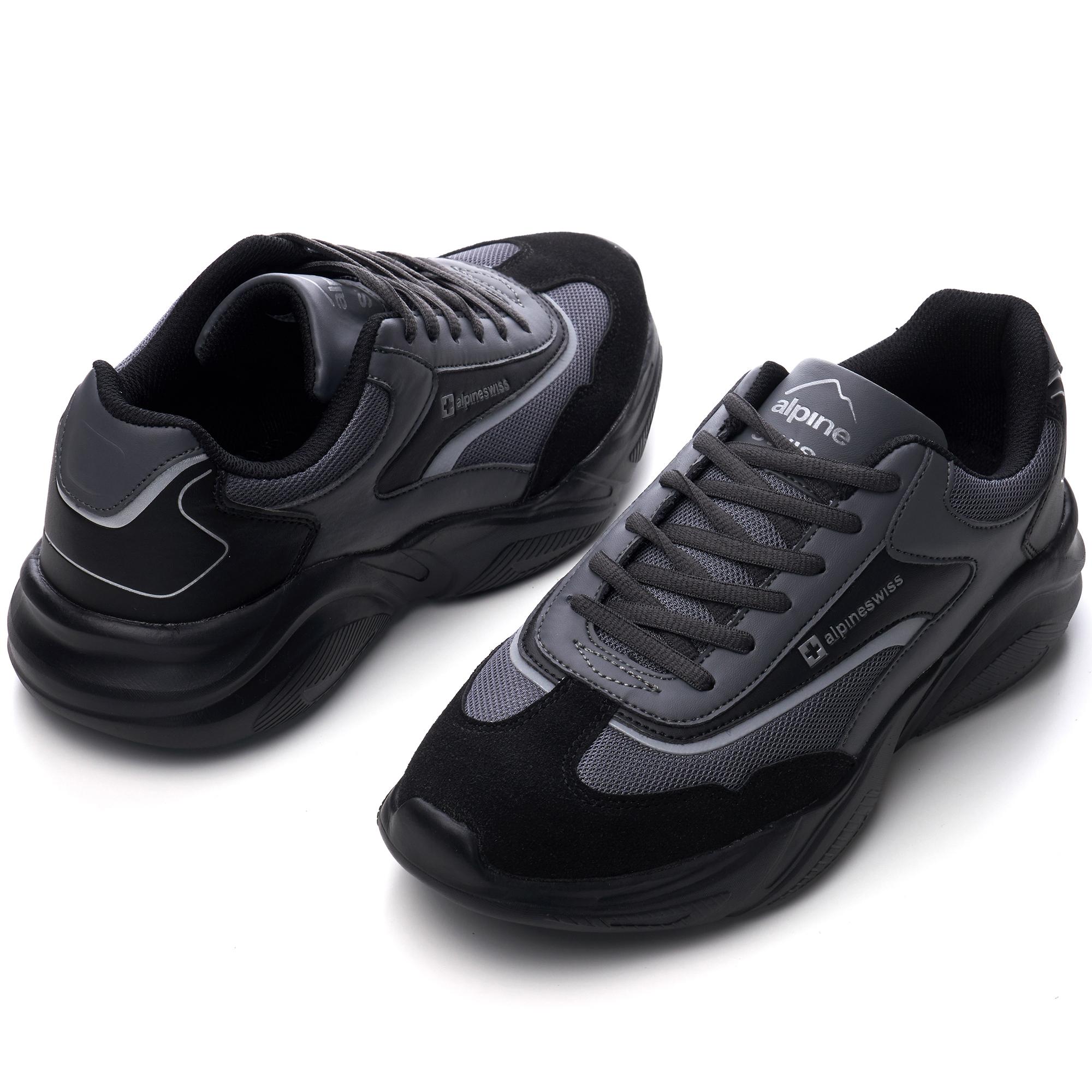 Alpine-Swiss-Stuart-Mens-Chunky-Sneakers-Retro-Platform-Dad-Tennis-Shoes thumbnail 15
