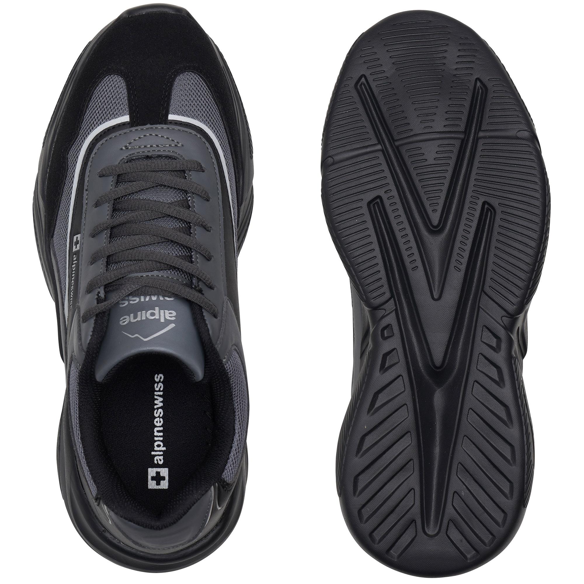 Alpine-Swiss-Stuart-Mens-Chunky-Sneakers-Retro-Platform-Dad-Tennis-Shoes thumbnail 16