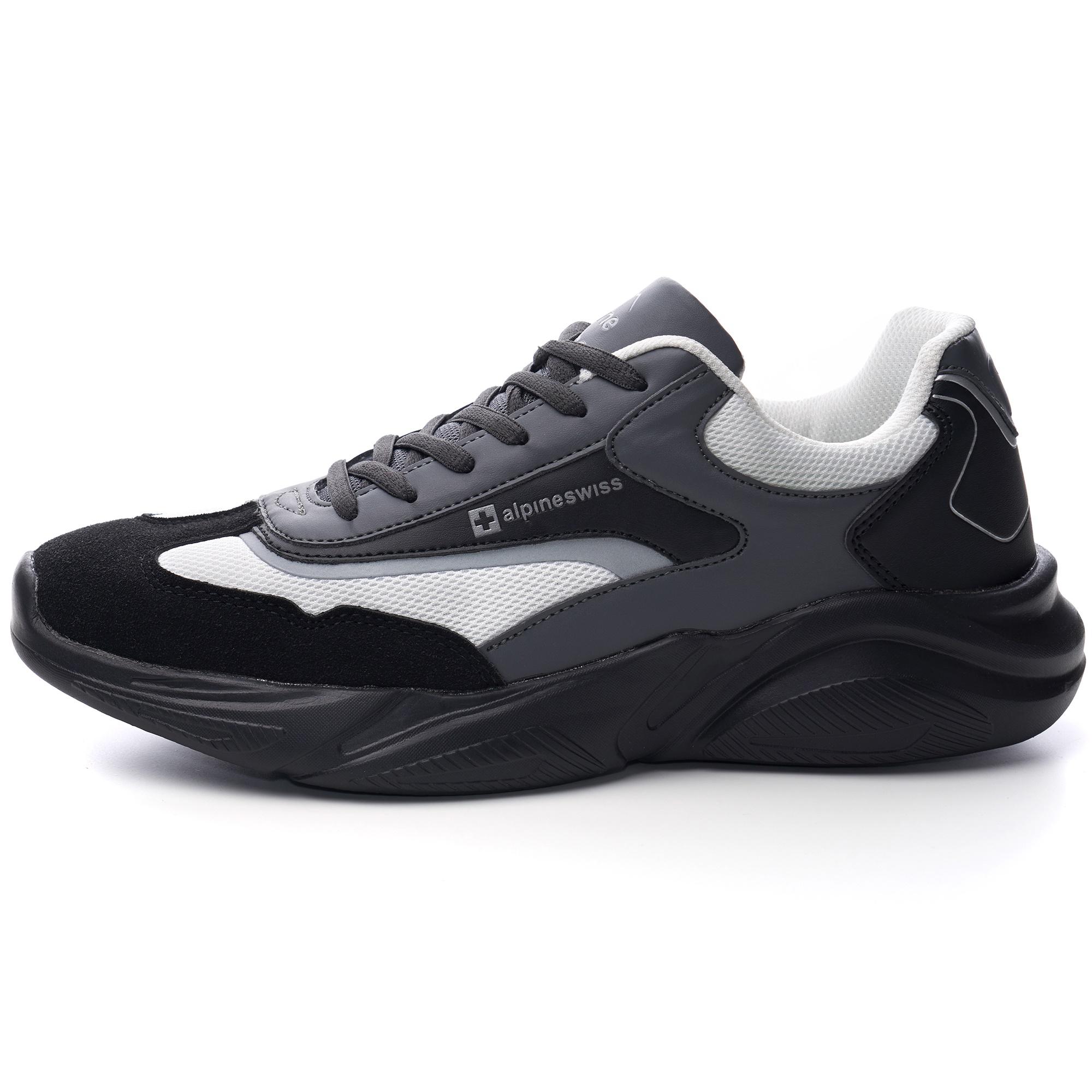Alpine-Swiss-Stuart-Mens-Chunky-Sneakers-Retro-Platform-Dad-Tennis-Shoes thumbnail 20