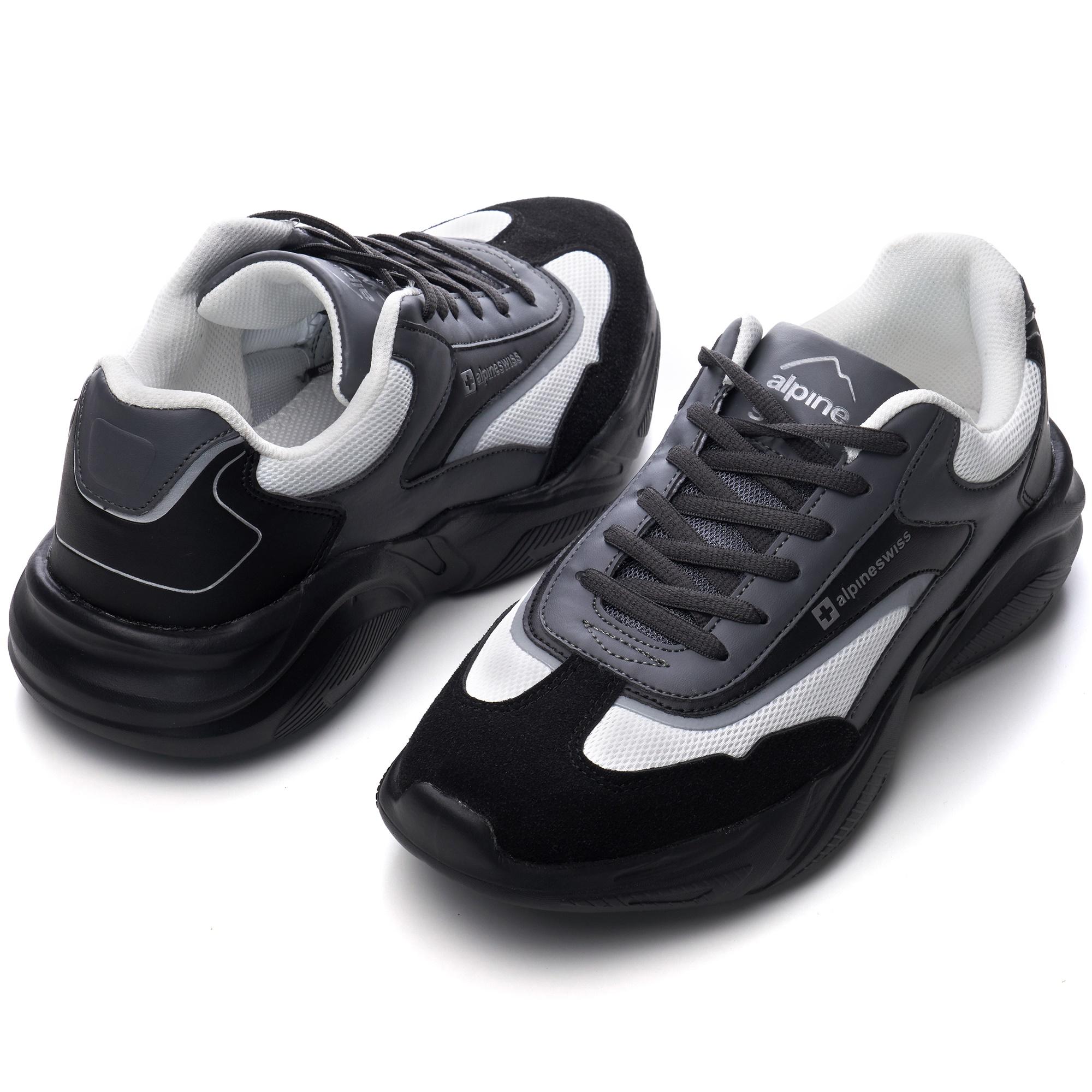 Alpine-Swiss-Stuart-Mens-Chunky-Sneakers-Retro-Platform-Dad-Tennis-Shoes thumbnail 21