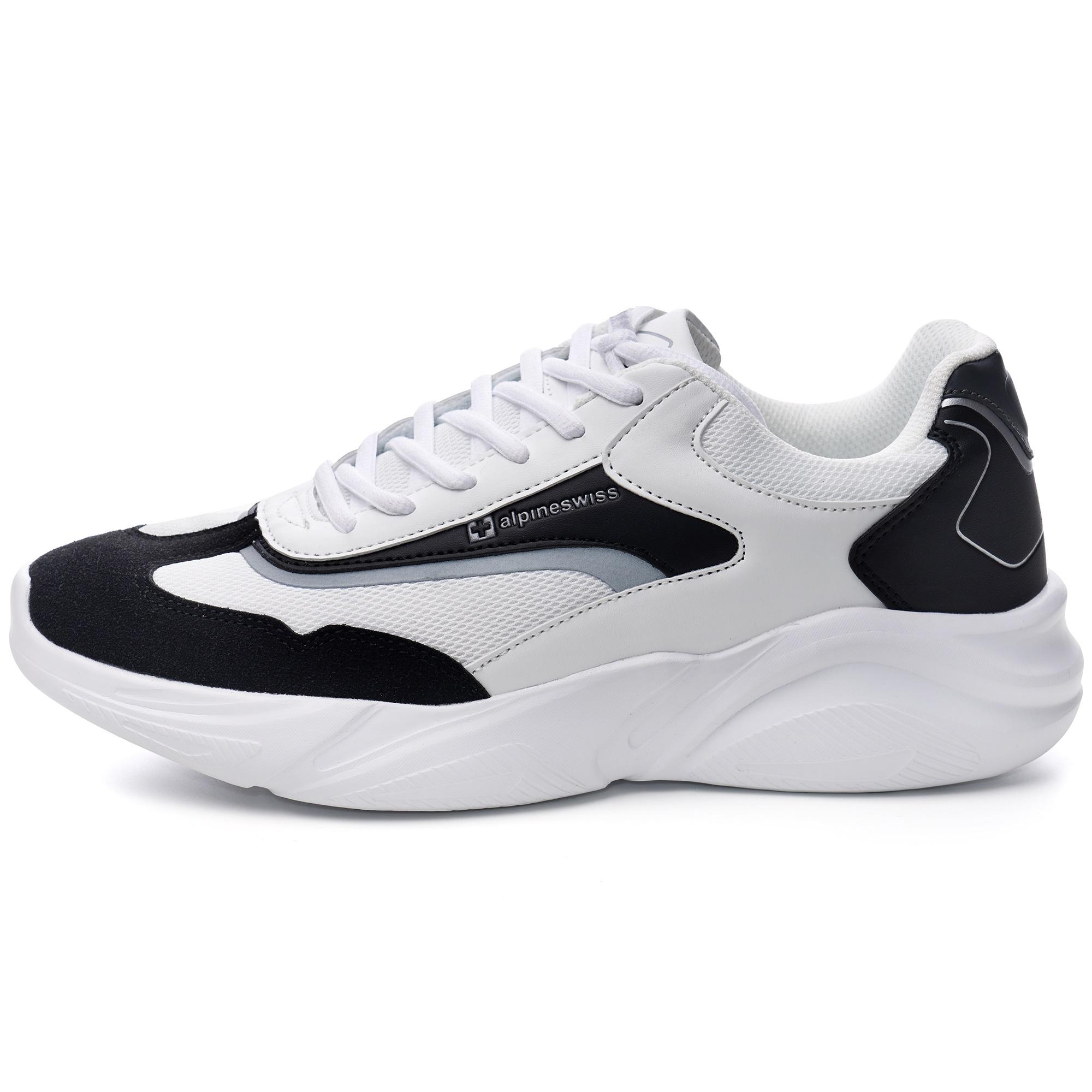 Alpine-Swiss-Stuart-Mens-Chunky-Sneakers-Retro-Platform-Dad-Tennis-Shoes thumbnail 26