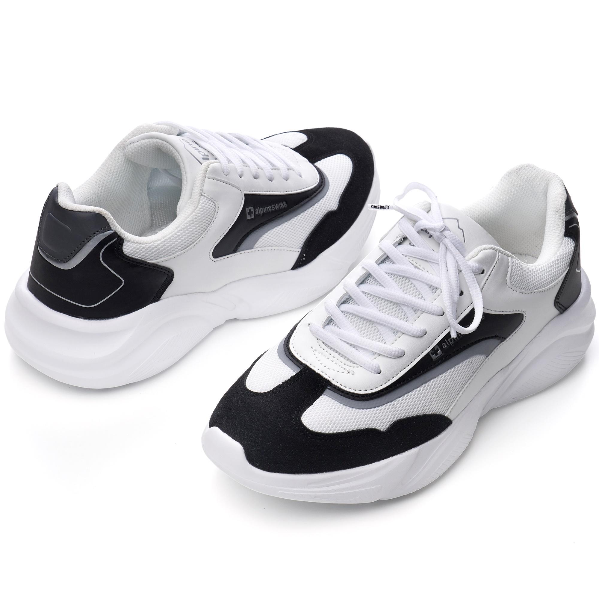 Alpine-Swiss-Stuart-Mens-Chunky-Sneakers-Retro-Platform-Dad-Tennis-Shoes thumbnail 27