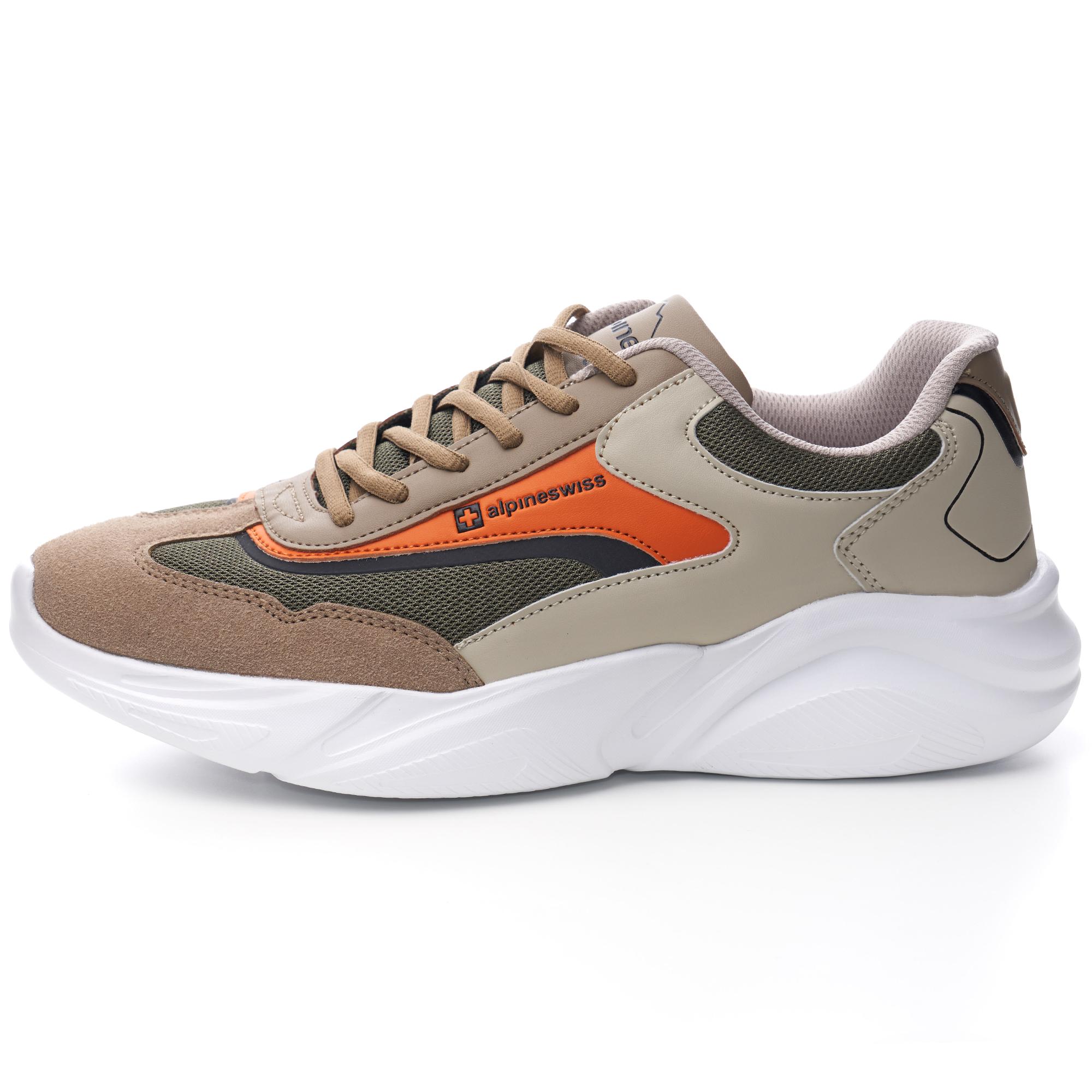 Alpine-Swiss-Stuart-Mens-Chunky-Sneakers-Retro-Platform-Dad-Tennis-Shoes thumbnail 32