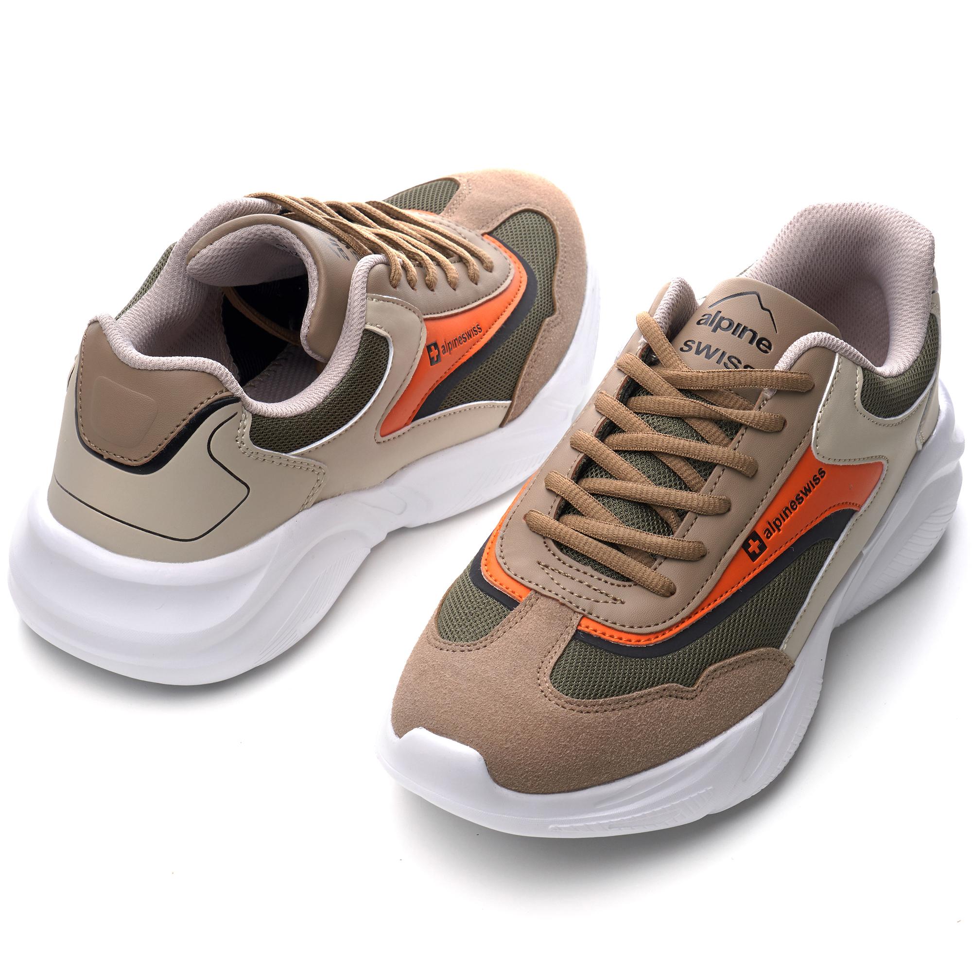 Alpine-Swiss-Stuart-Mens-Chunky-Sneakers-Retro-Platform-Dad-Tennis-Shoes thumbnail 33