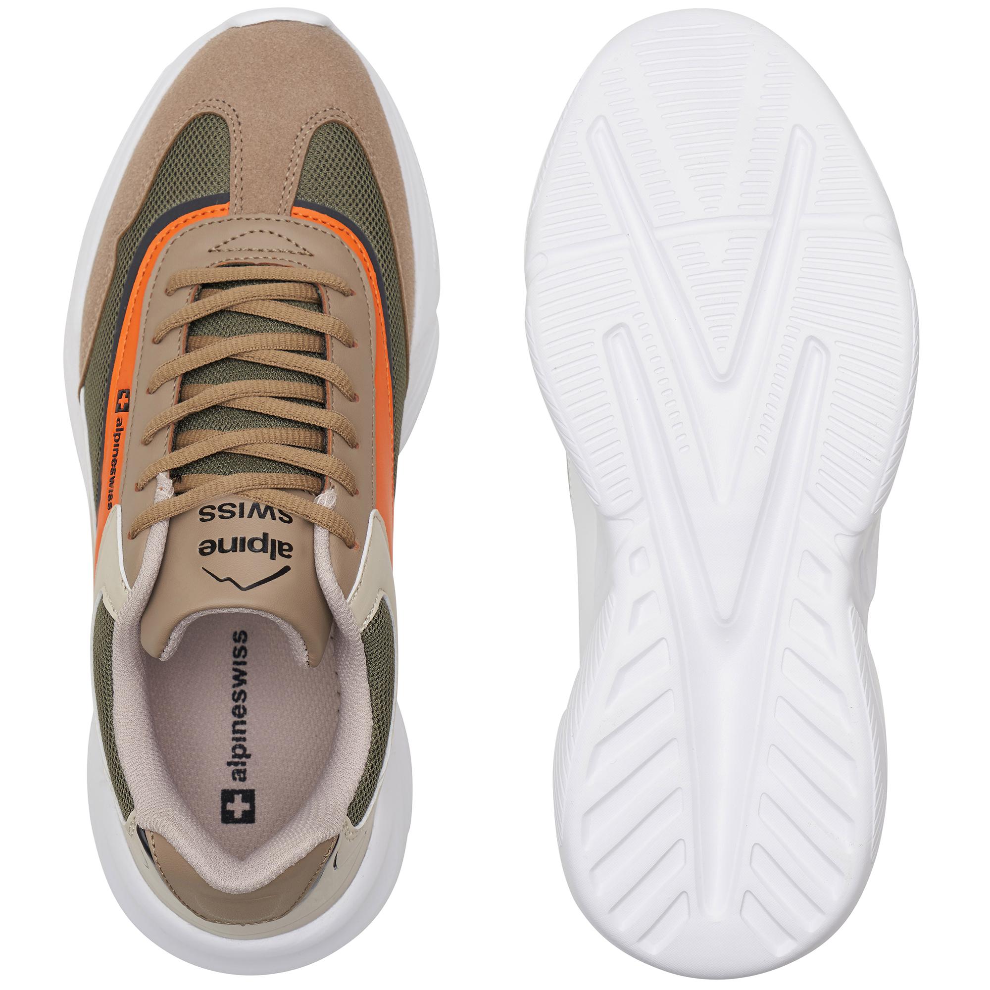Alpine-Swiss-Stuart-Mens-Chunky-Sneakers-Retro-Platform-Dad-Tennis-Shoes thumbnail 34
