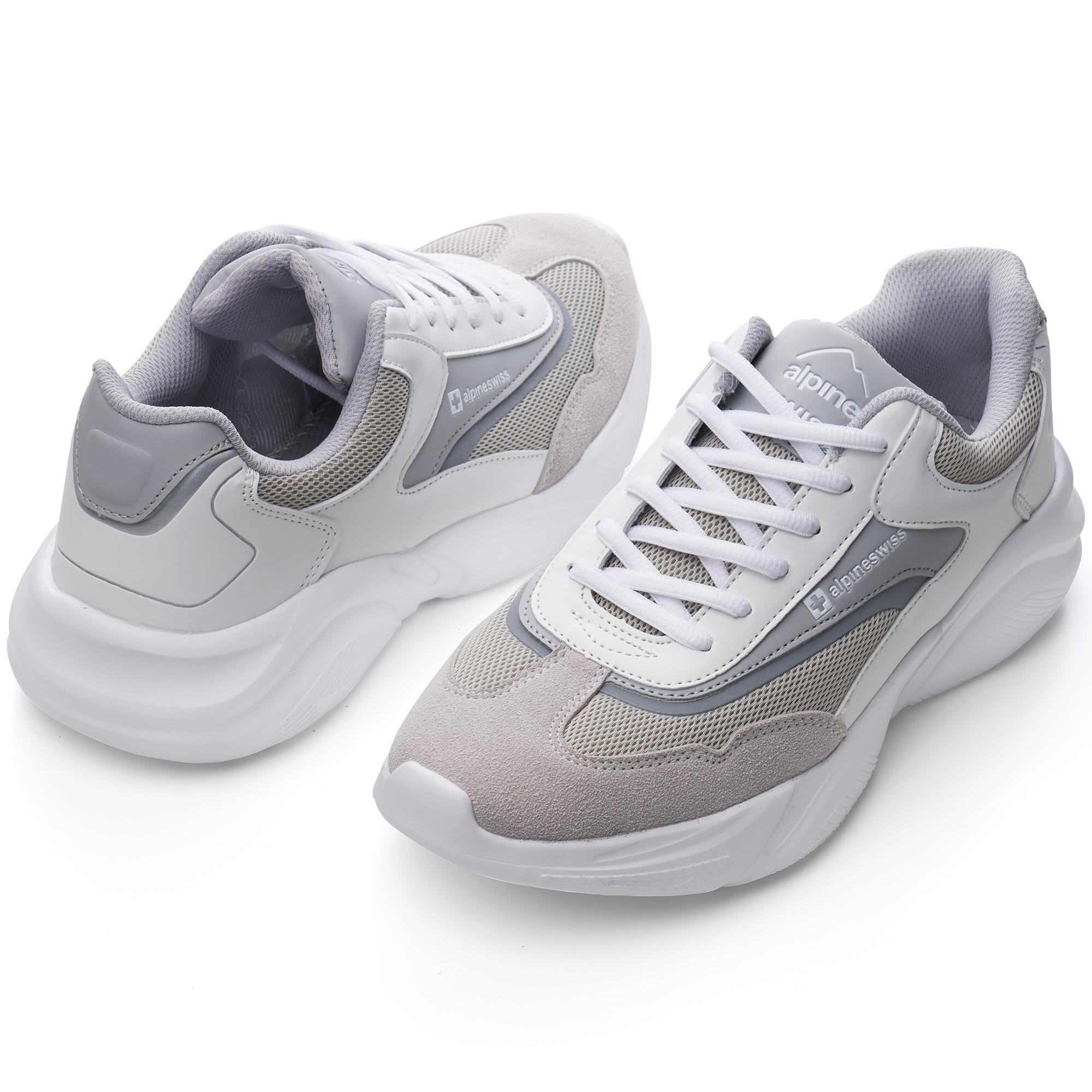 Alpine-Swiss-Stuart-Mens-Chunky-Sneakers-Retro-Platform-Dad-Tennis-Shoes thumbnail 39