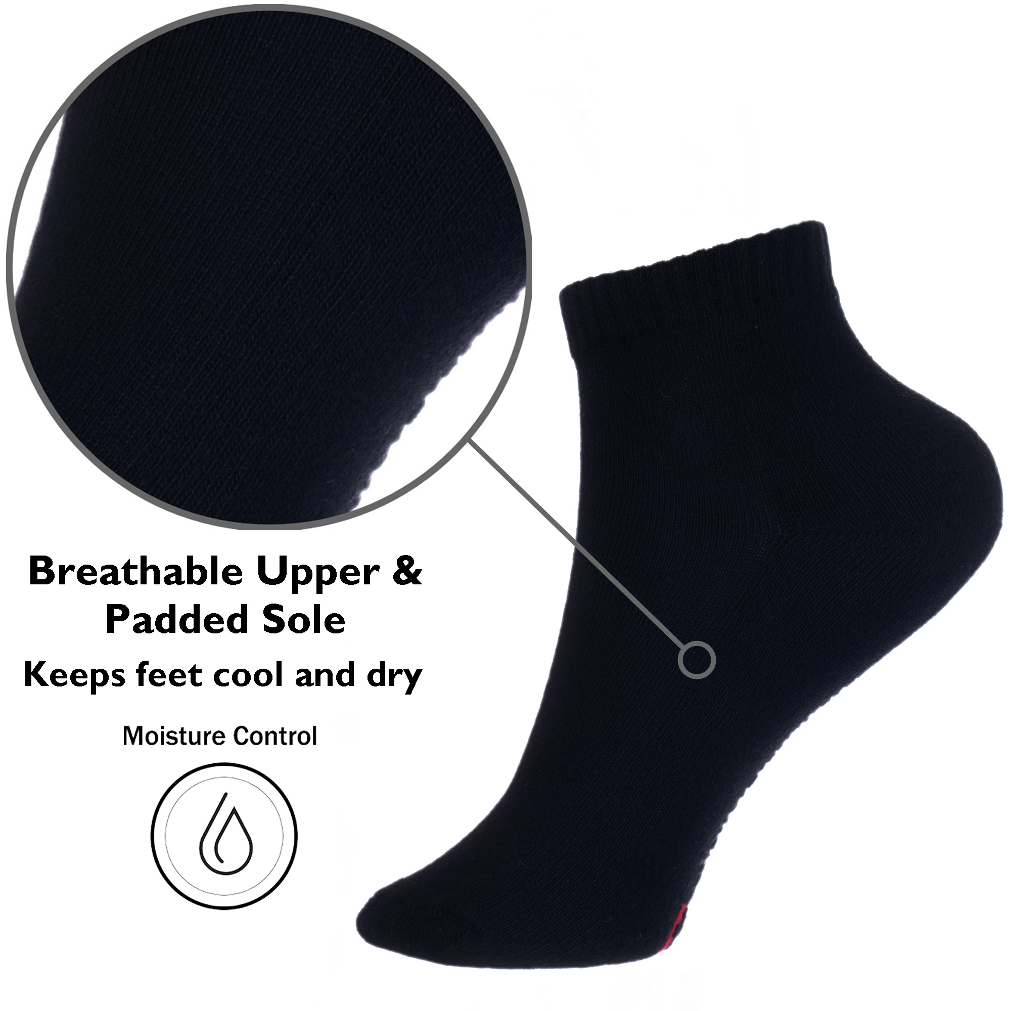 Alpine-Swiss-Mens-8-Pack-Ankle-Socks-Low-Cut-Cotton-Athletic-Sock-Shoe-Size-6-12 thumbnail 13