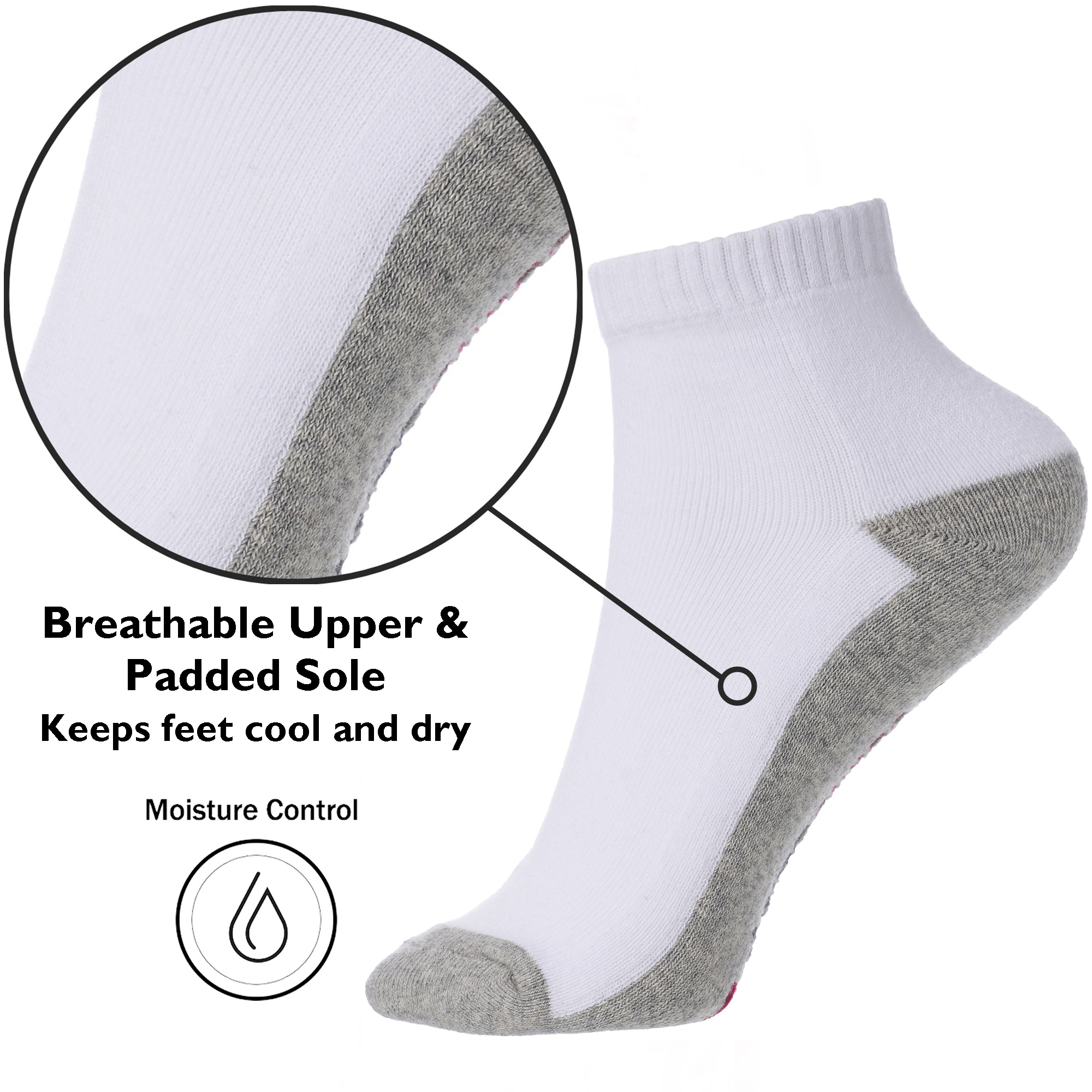 Alpine-Swiss-Mens-8-Pack-Ankle-Socks-Low-Cut-Cotton-Athletic-Sock-Shoe-Size-6-12 thumbnail 21
