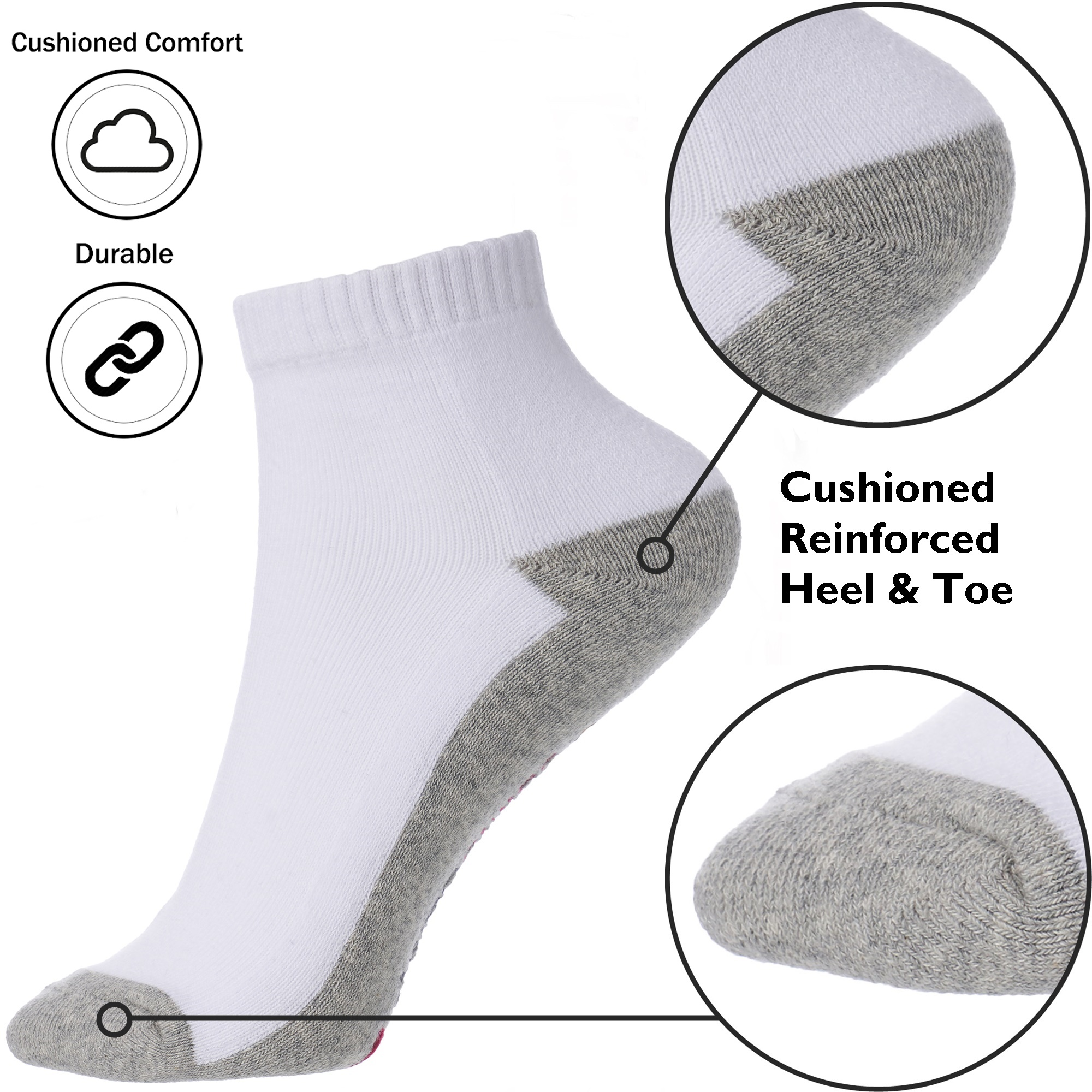 Alpine-Swiss-Mens-8-Pack-Ankle-Socks-Low-Cut-Cotton-Athletic-Sock-Shoe-Size-6-12 thumbnail 19