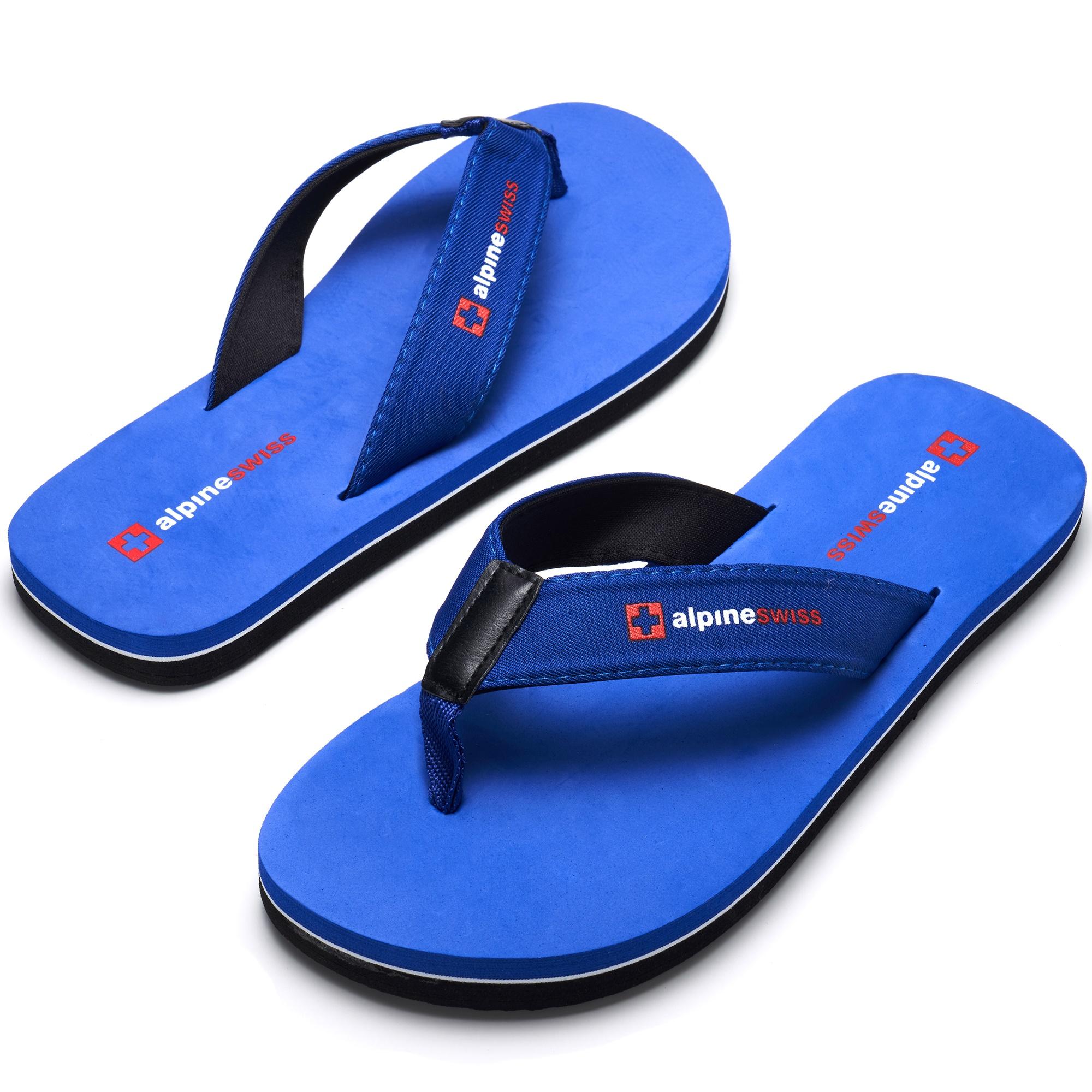 thumbnail 36 - Alpine Swiss Mens Flip Flops Beach Sandals Lightweight EVA Sole Comfort Thongs