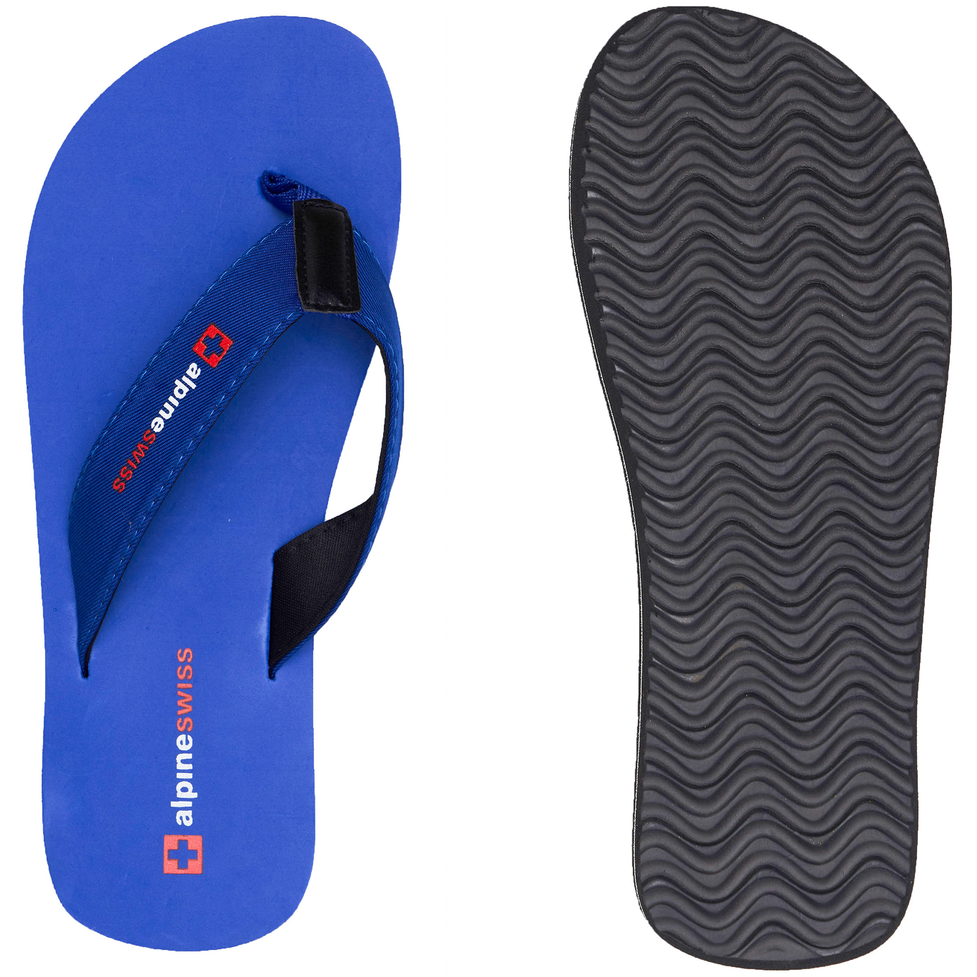 thumbnail 37 - Alpine Swiss Mens Flip Flops Beach Sandals Lightweight EVA Sole Comfort Thongs