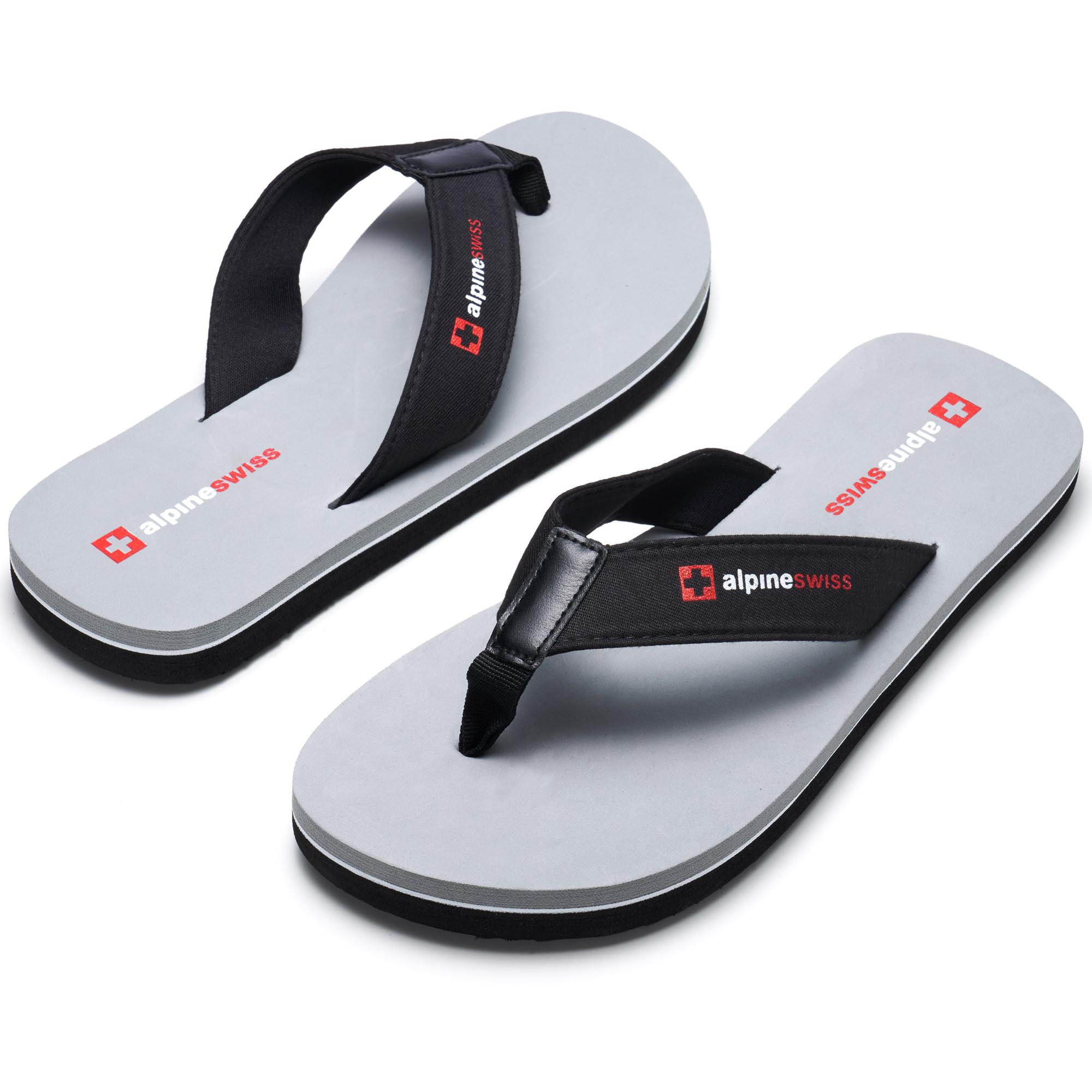 thumbnail 26 - Alpine Swiss Mens Flip Flops Beach Sandals Lightweight EVA Sole Comfort Thongs