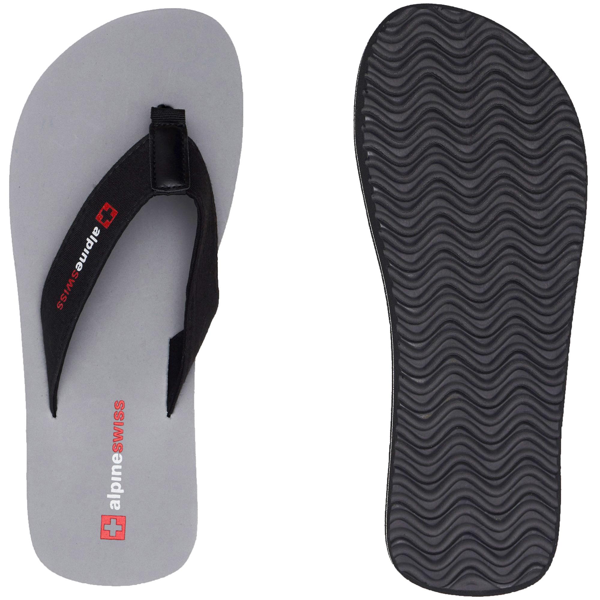 thumbnail 27 - Alpine Swiss Mens Flip Flops Beach Sandals Lightweight EVA Sole Comfort Thongs