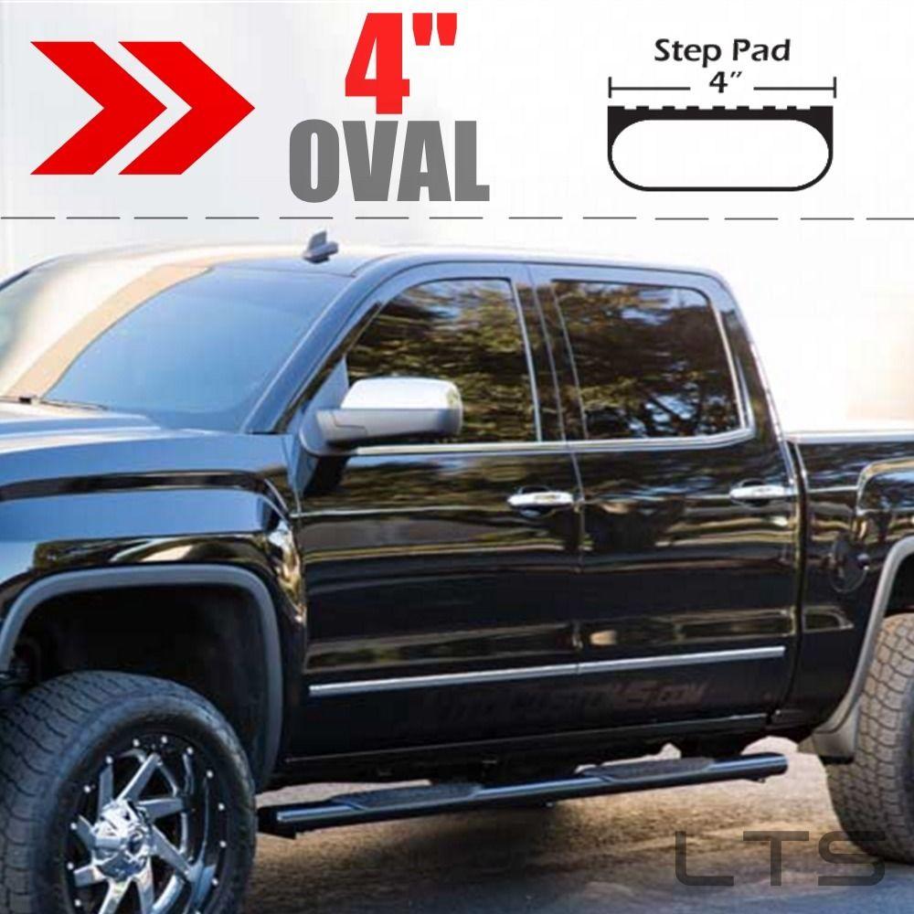 "1999-2018 GMC SIERRA 1500 EXTENDED CAB 4"" OVAL BLACK NERF"