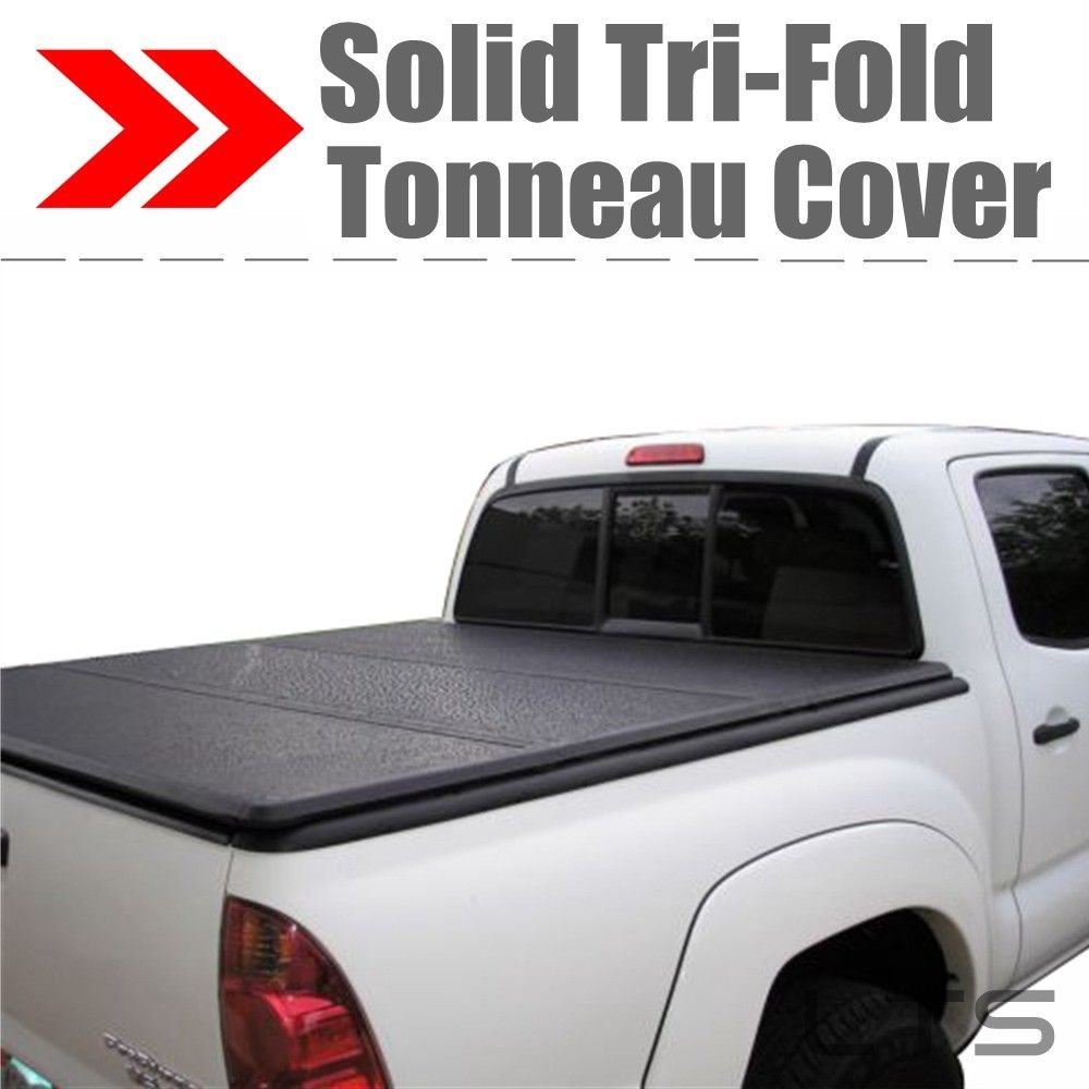 solid lock trifold hard tonneau cover for toyota tundra 55ft short bed