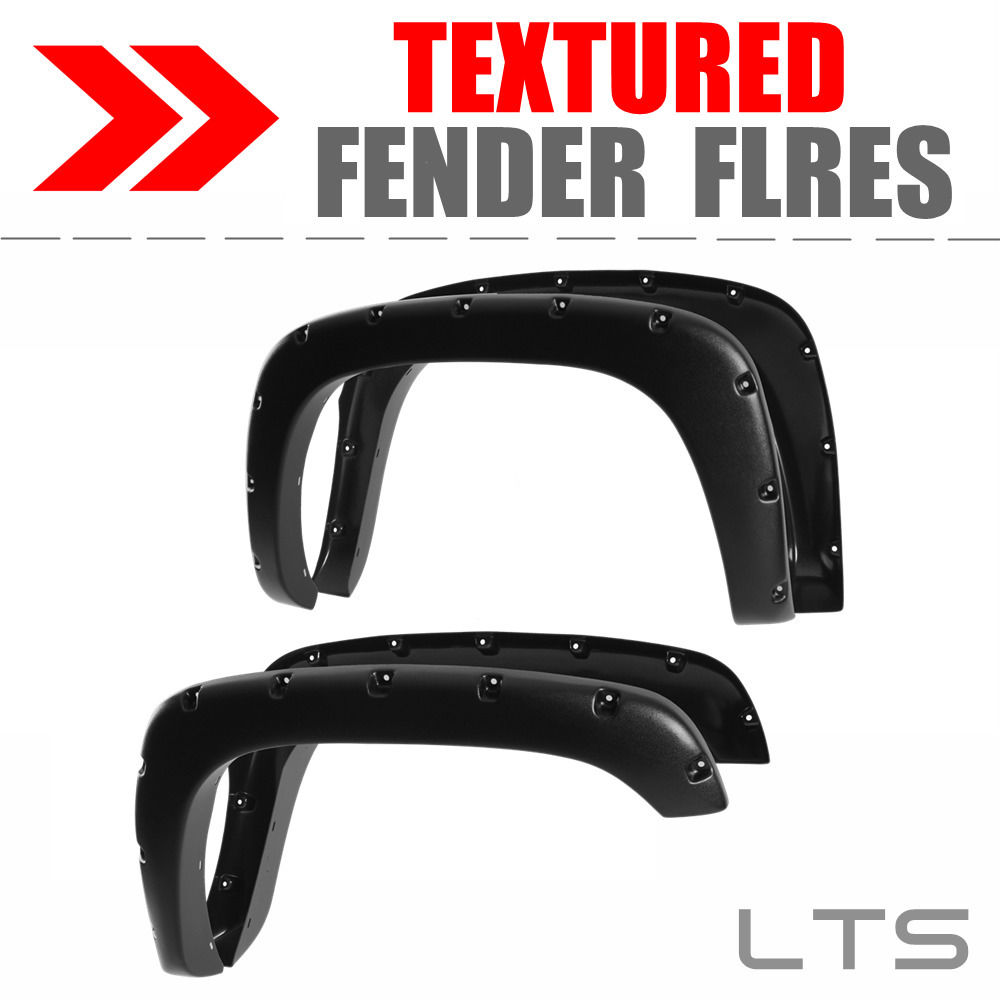 For 2001-2007 Chevy Silverado 2500 Textured Pocket Riveted Fender Flares