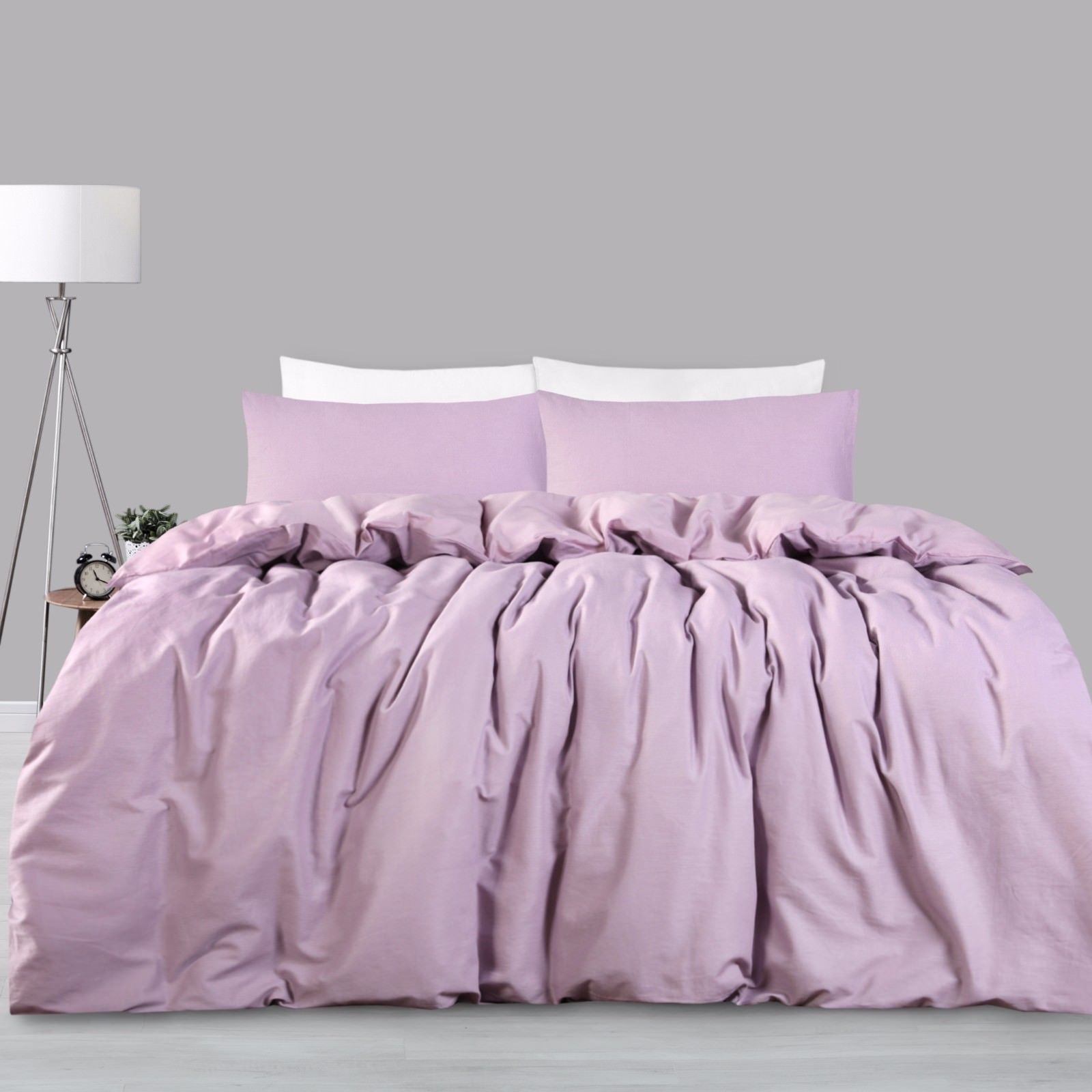 luxury cotton linen bedding duvet cover set twin queen king size customized ebay. Black Bedroom Furniture Sets. Home Design Ideas