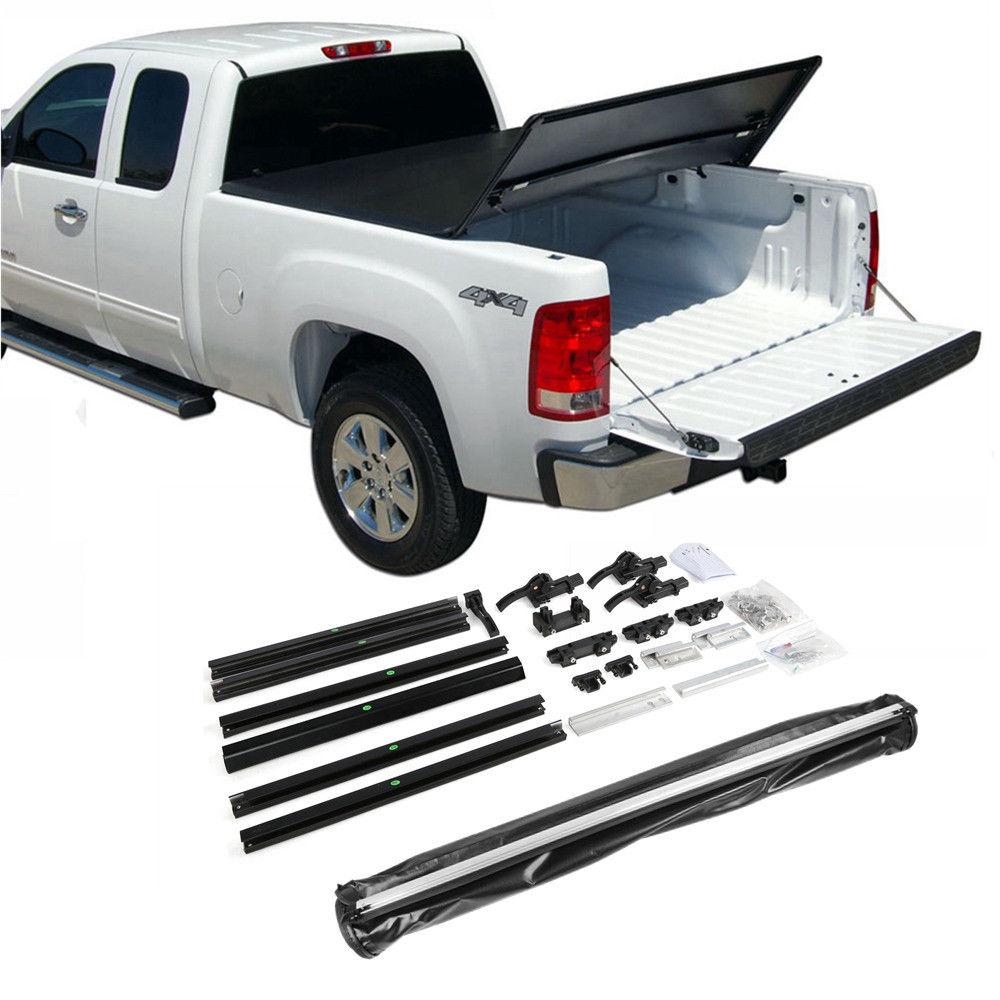 Assemble Lock Tri-Fold Tonneau Cover For Chevrolet Silverado 6.5ft Bed 2007-2013