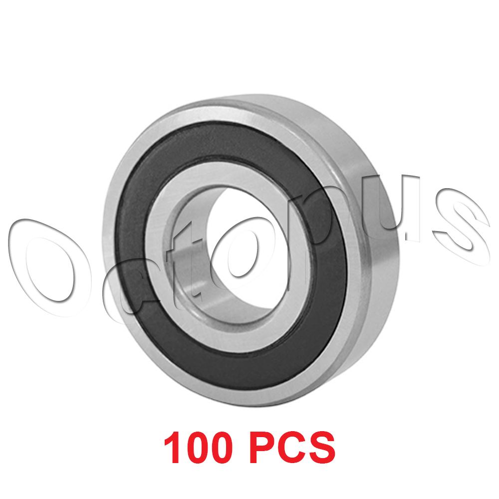 100 Pcs premium  6905 2RS ABEC3 Rubber Sealed Deep Groove Ball Bearing 25x42x9mm
