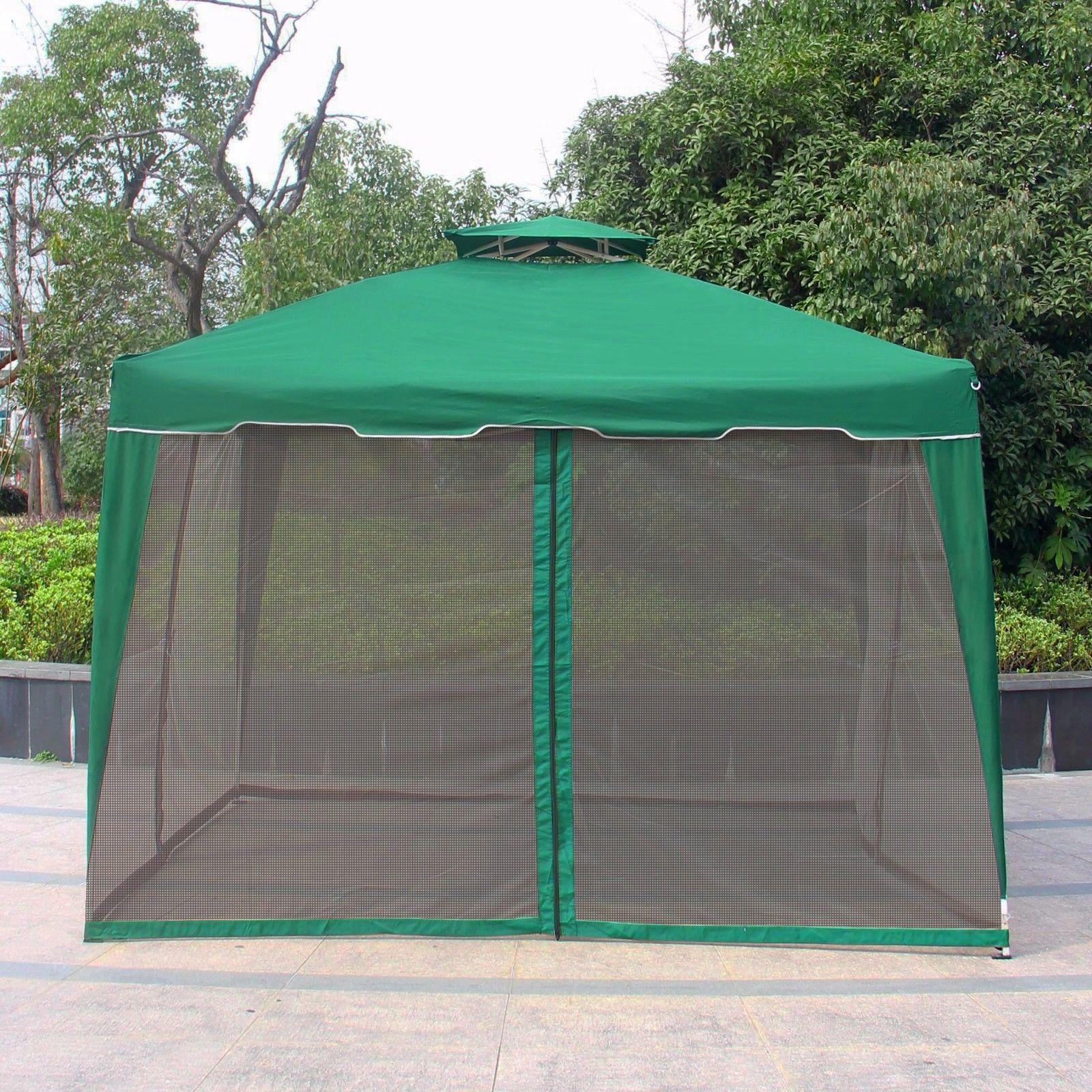 Patio Umbrella Netting: 10' X 10' Gazebo Replacement Outdoor Garden Gazebo Canopy