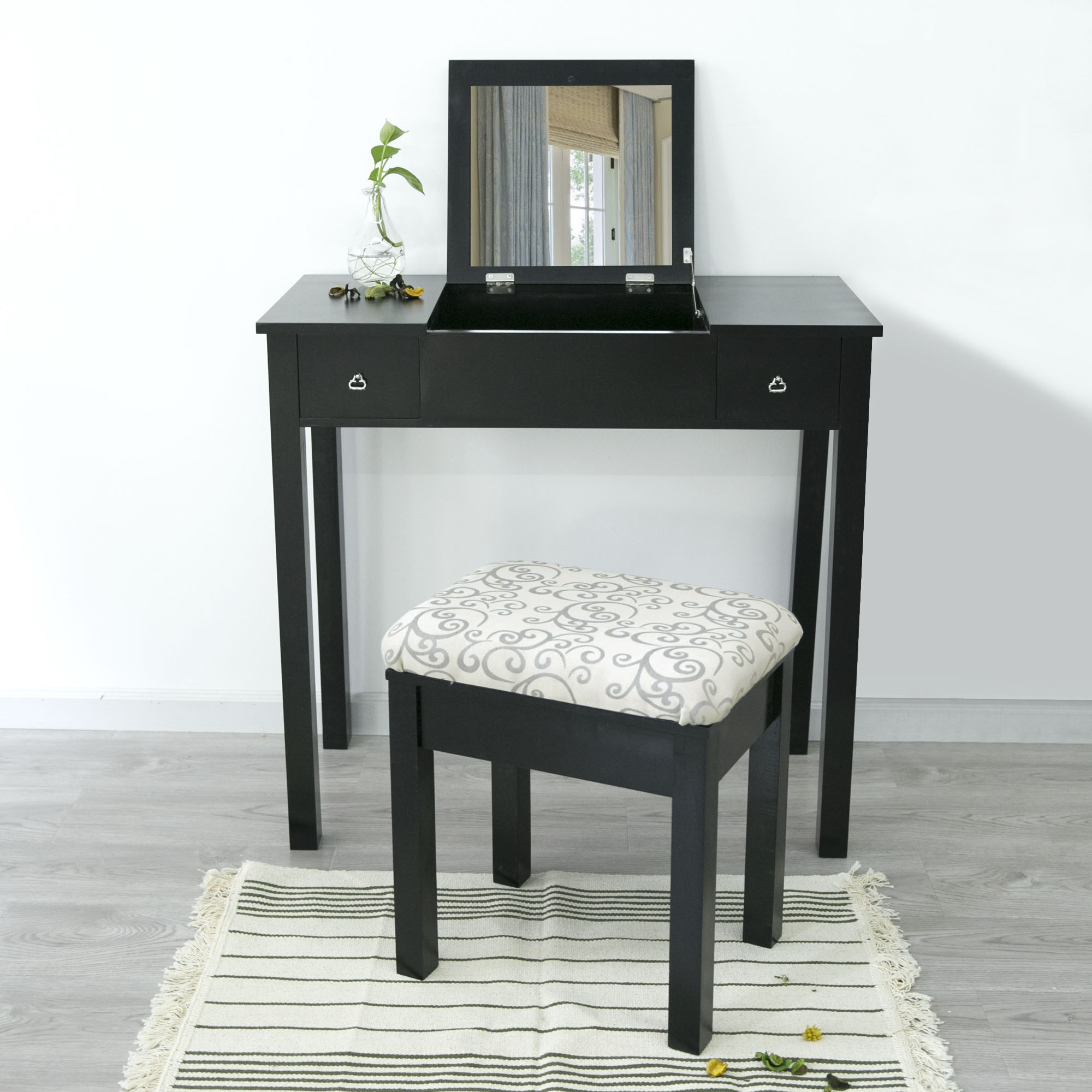 products stool desk table number combo chair for glam item and mirror coaster value vanity leighton