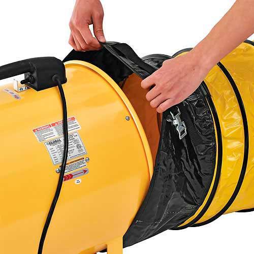 "Portable Ventilation 12"" Fan With 32' Flexible Ducting | eBay"