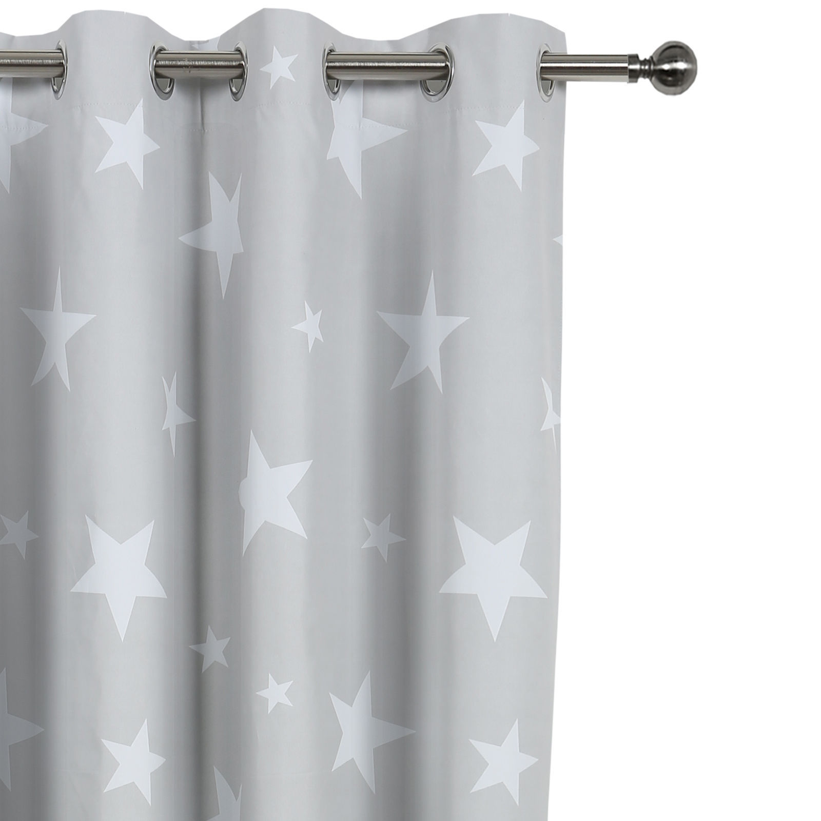 Kids Children Curtain Coated Blockout Eyelet Window Drape Clouds