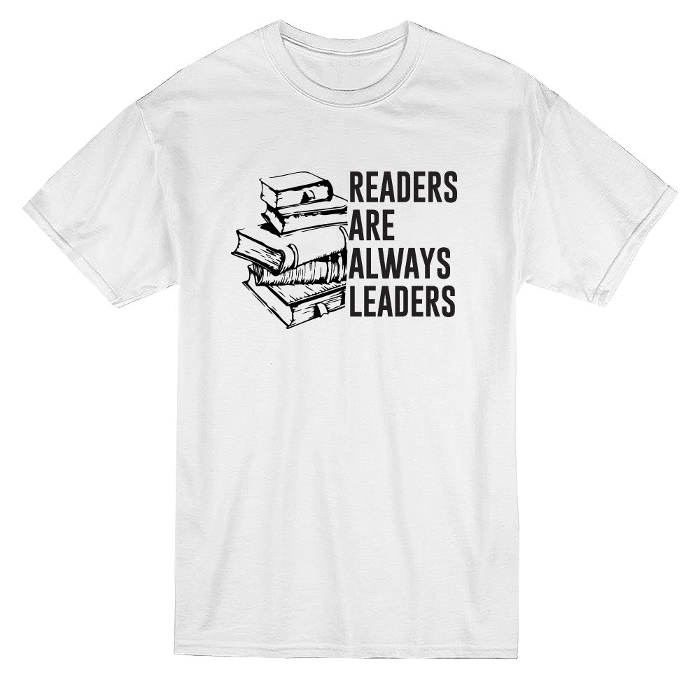 Readers Are Always Leaders Book Graphic Men's White T-shirt