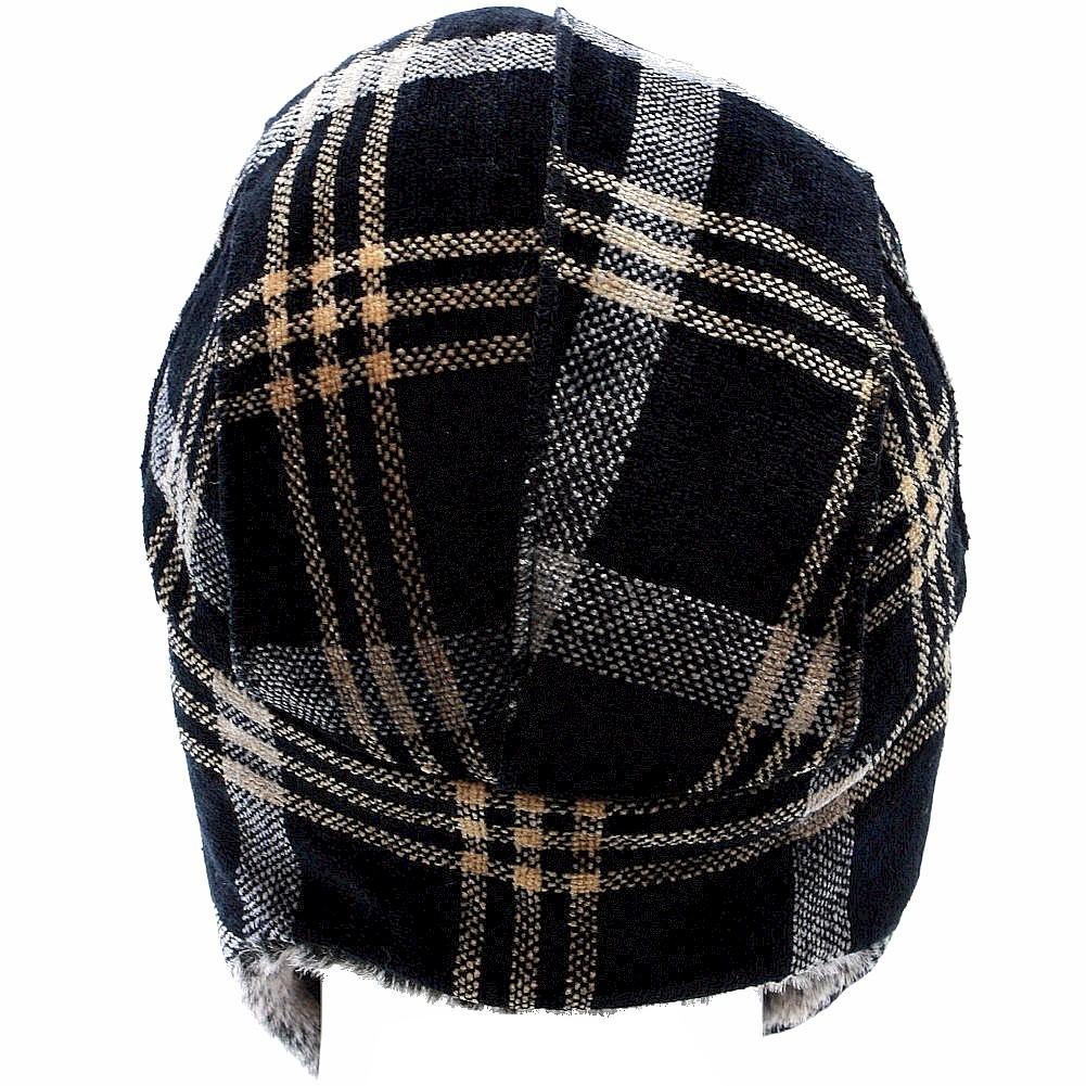 e135bd7cb3bb5 Woolrich Chenille Men s Faux Fur Plaid Earflaps Trapper Hat