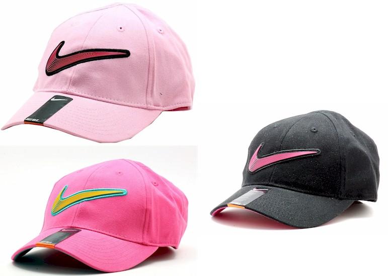 Nike-Girl-039-s-Embroidered-Nike-Swoosh-Logo-Baseball-Cap-Sz-4-6X thumbnail 6