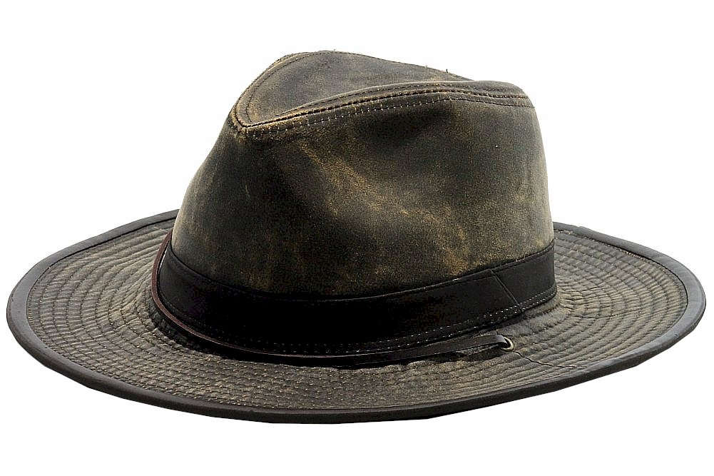 Dorfman Pacific Men s Brown Weathered Outback Hat Sz  L 16698203166 ... b6a5b2aa9f2