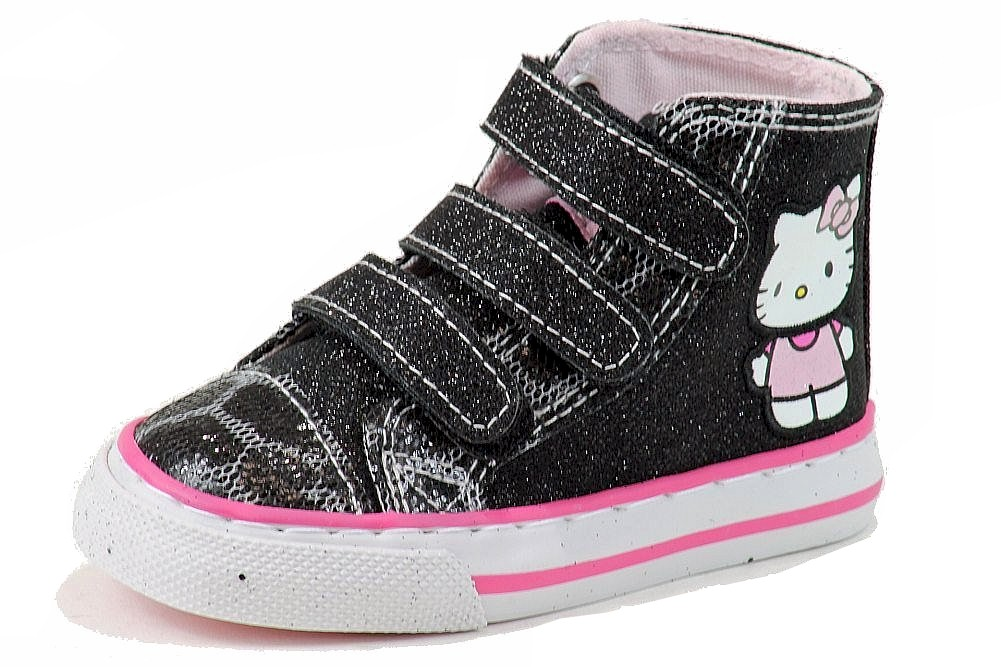 Hello Kitty Girl Fashion Mary Jane Flats HK Lil Vanessa Black Shoes FE362-1 Sz 5