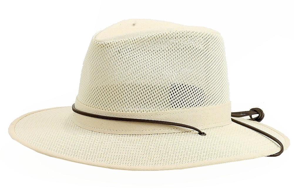 d081f664d8c Henschel Men s Packable Aussie Breezer Natural Safari Hat Sz  M