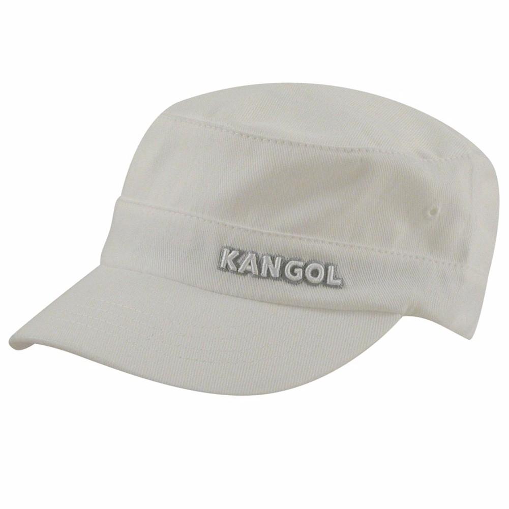 Kangol Men s Cotton Twill Army Cap White Hat  63af9d80fe35