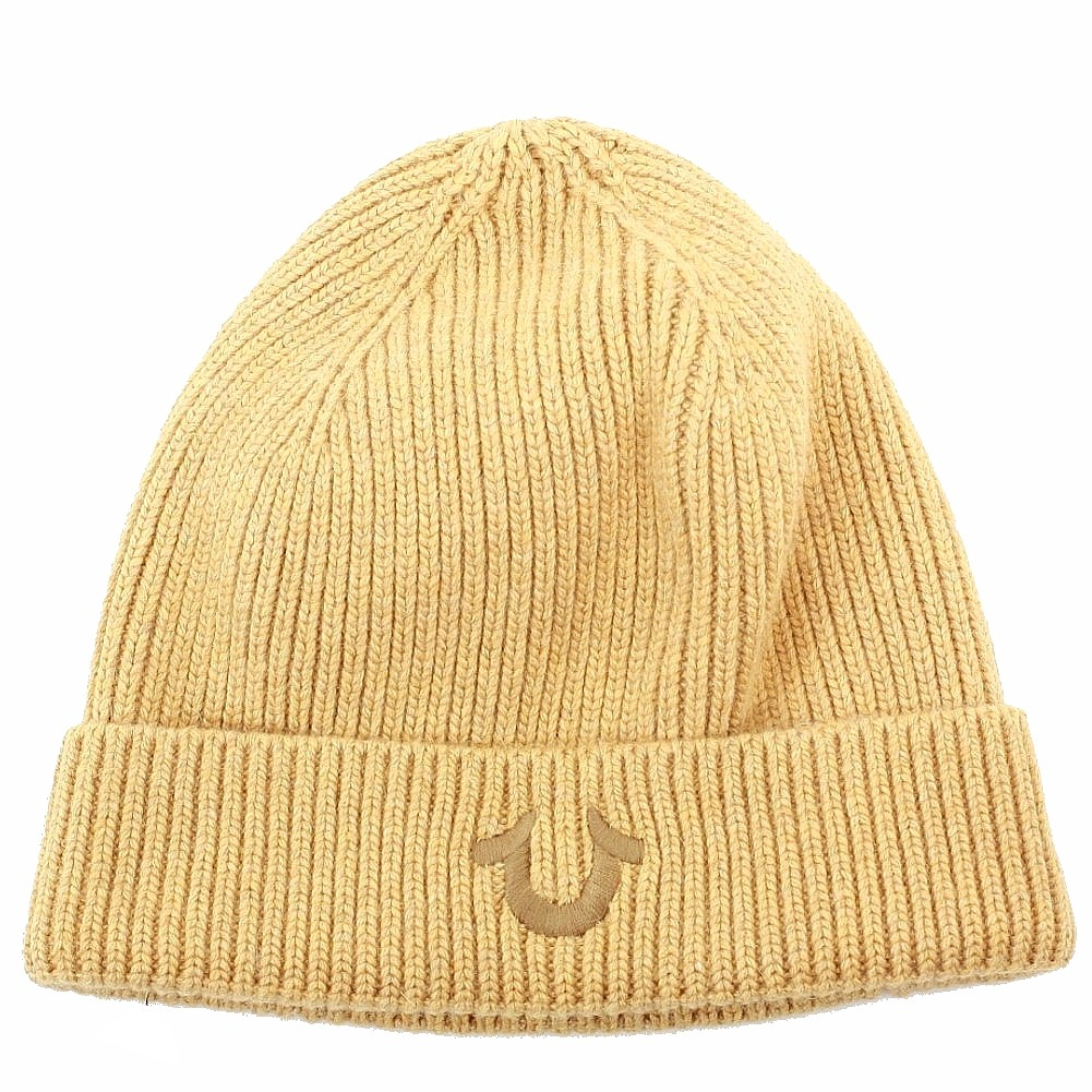 True Religion Men S Ribbed Knit Beanie Hat One Size Fits