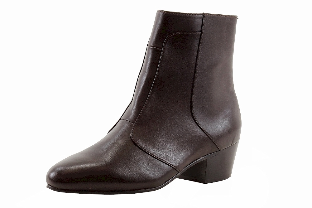 a52996ea958 Details about Giorgio Brutini Men's Calloway Leather Cuban Heel Dark Brown  Ankle Boots 805752
