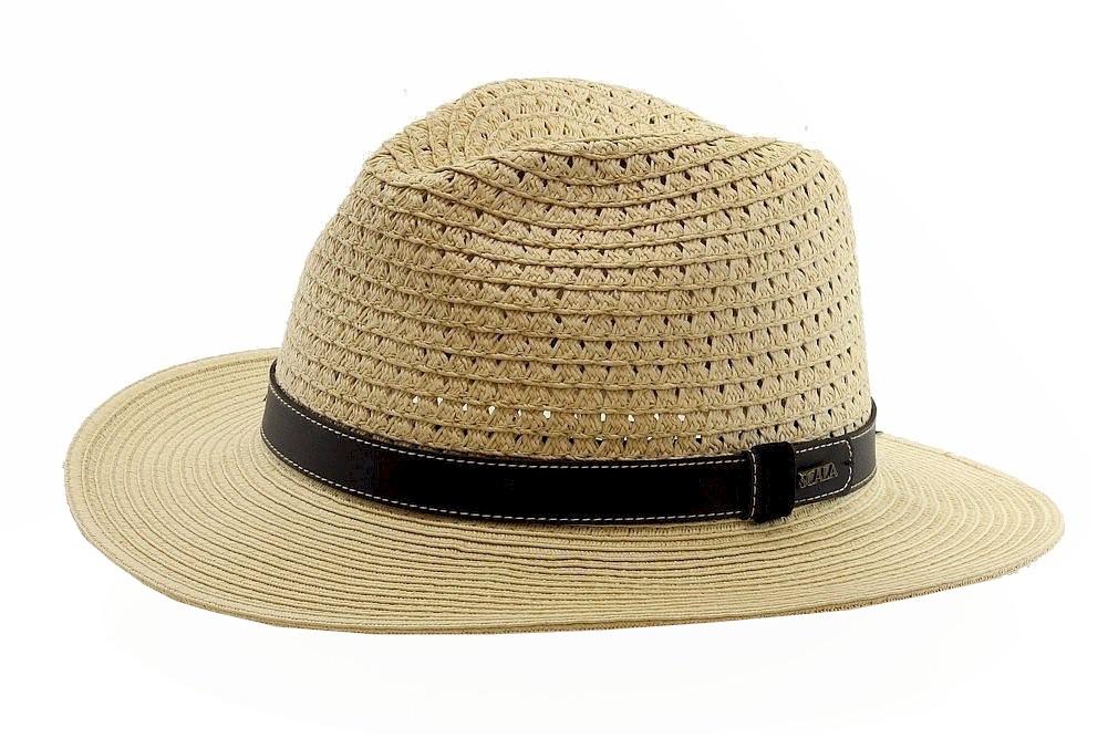 43f2bd00889a88 Scala Classico Men's Fashion Natural Toyo Braid Safari Hat | eBay