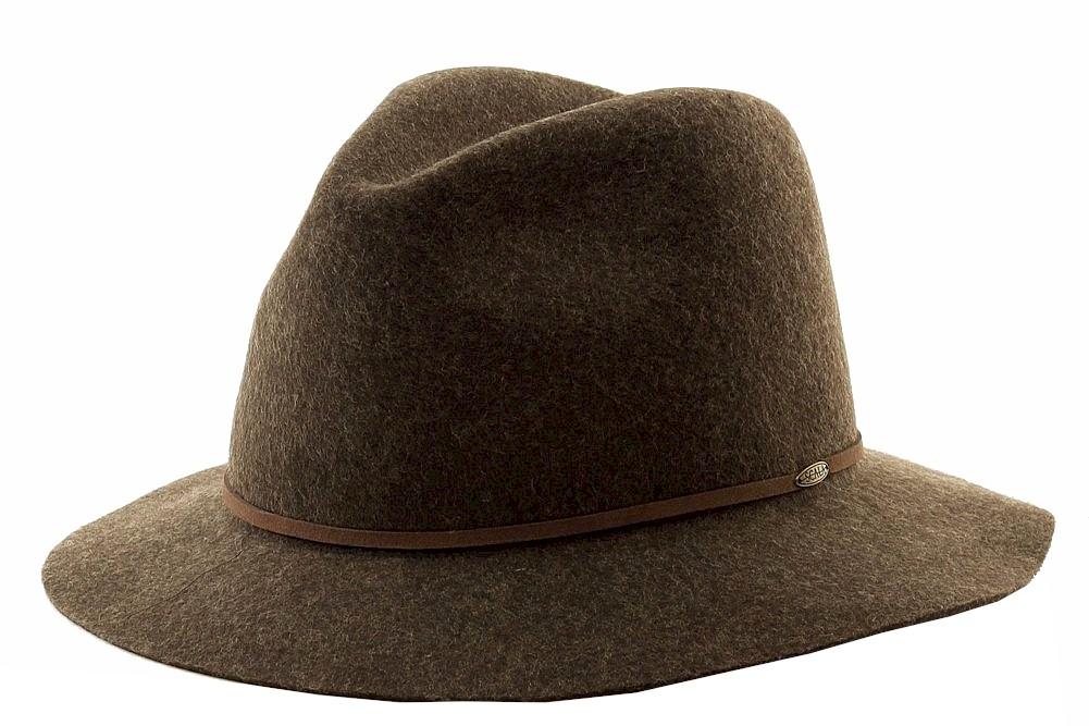 15f6afbd Scala Classico Men's Four Seasons Brown Wool Felt Crushable Safari ...