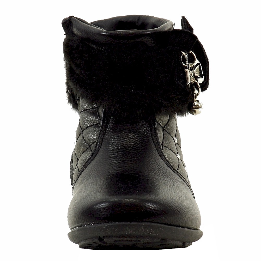 thumbnail 7 - Laura Ashley Toddler Girl's Studded Fashion Boots Shoes