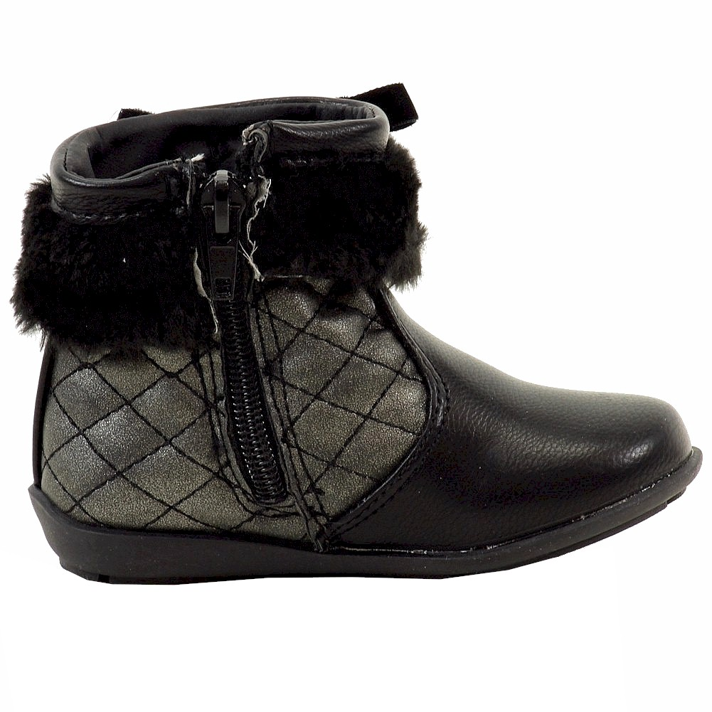 thumbnail 8 - Laura Ashley Toddler Girl's Studded Fashion Boots Shoes