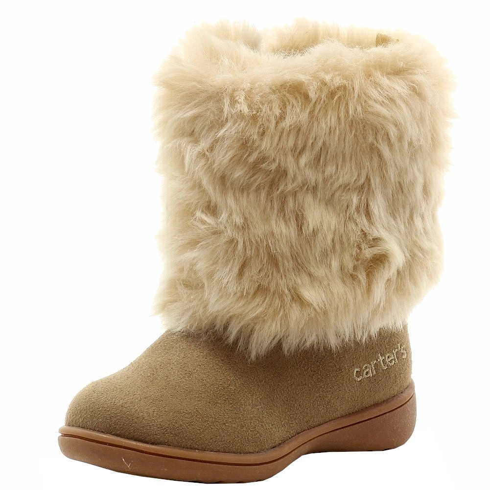 Carter's Toddler Girl's Fluffy 2 Fashion Fur Winter Boots