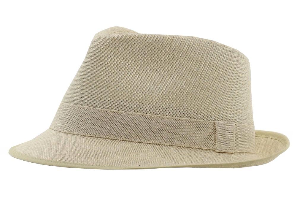 Henschel Men s Natural Woven Linen Fedora Hat  6627ac497ba