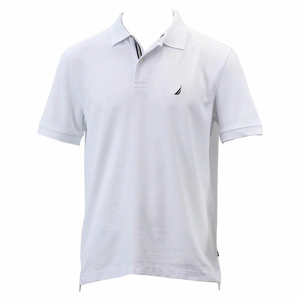 Men Regular Fit Cotton Polo Shirts Classic Short Sleeve Polo White