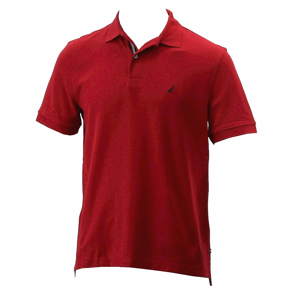 Nautica Mens Anchor Performance Deck Solid Nautical Red Short