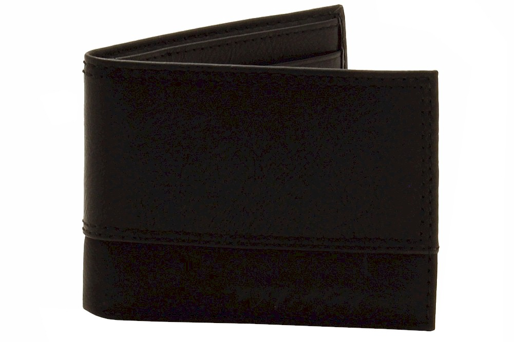Dickies Men's Black Slim Bi-Fold Wallet
