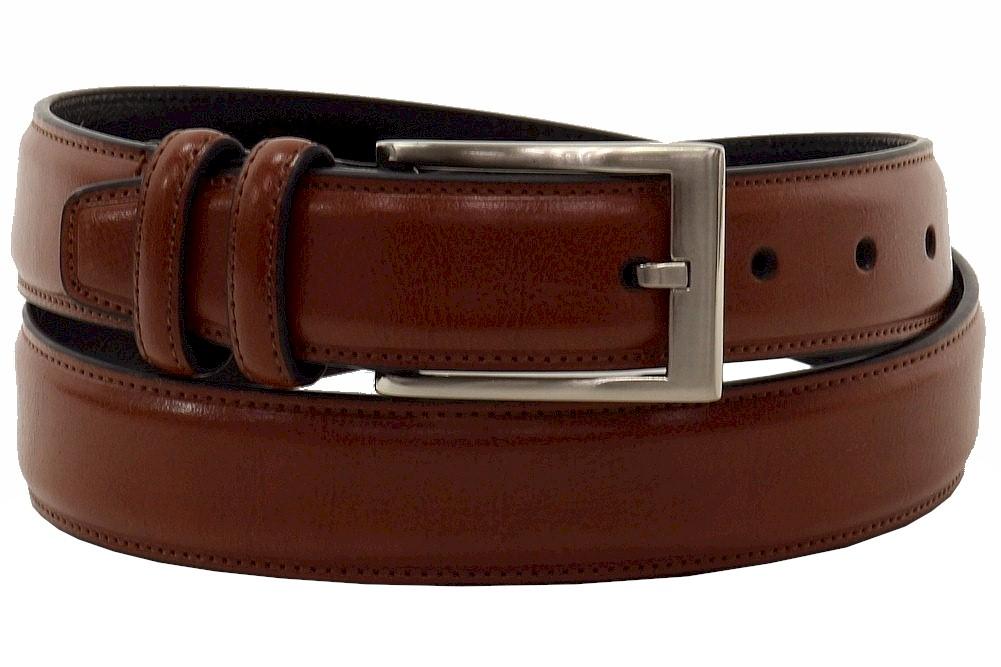 Geoffrey Beene Mens Belt Khaki NWT New Leather Tab Elastic Weave Sz 36