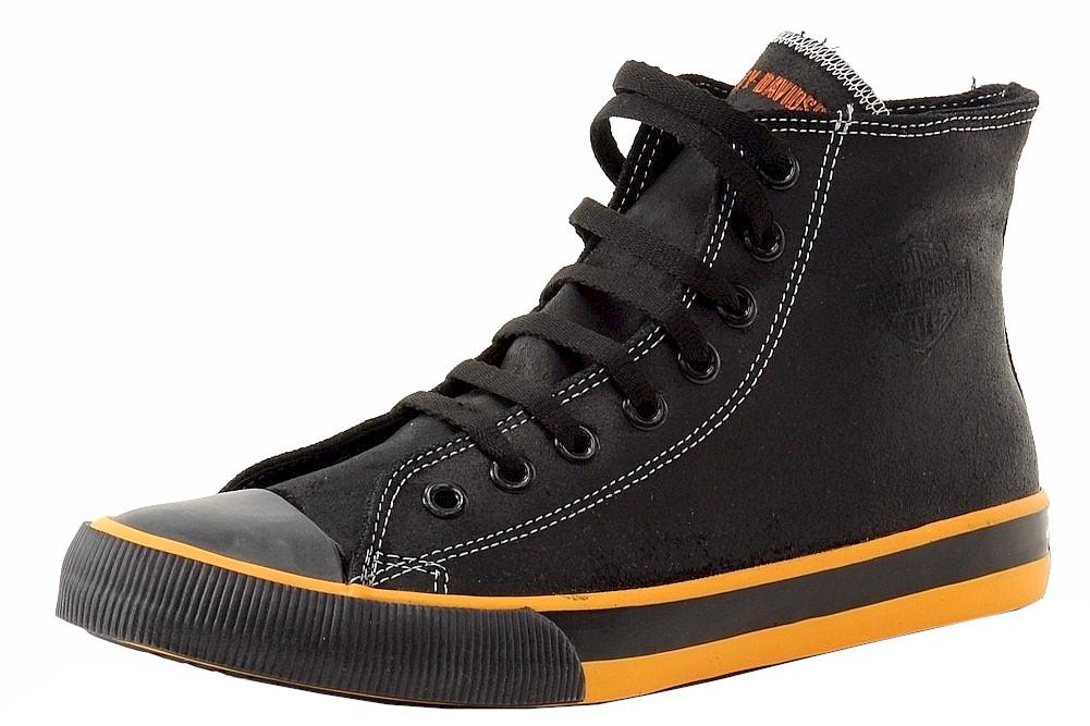 e88f0a71dd83 Harley Davidson Men s Nathan D93816 Black Orange Leather High-Top ...