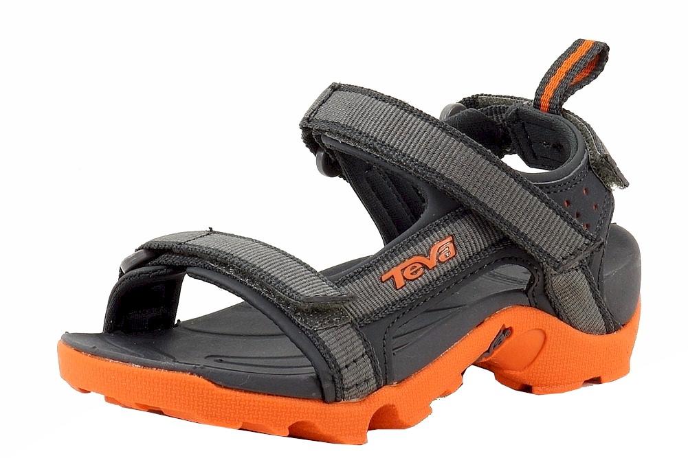 d012af4e40d893 Teva Boy s Tanza Fashion Grey Orange Sport Water Sandals Shoes