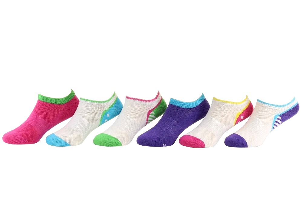 Stride Rite Girl/'s 4-Pairs Soft Knit Fuchsia Floral Assorted Socks